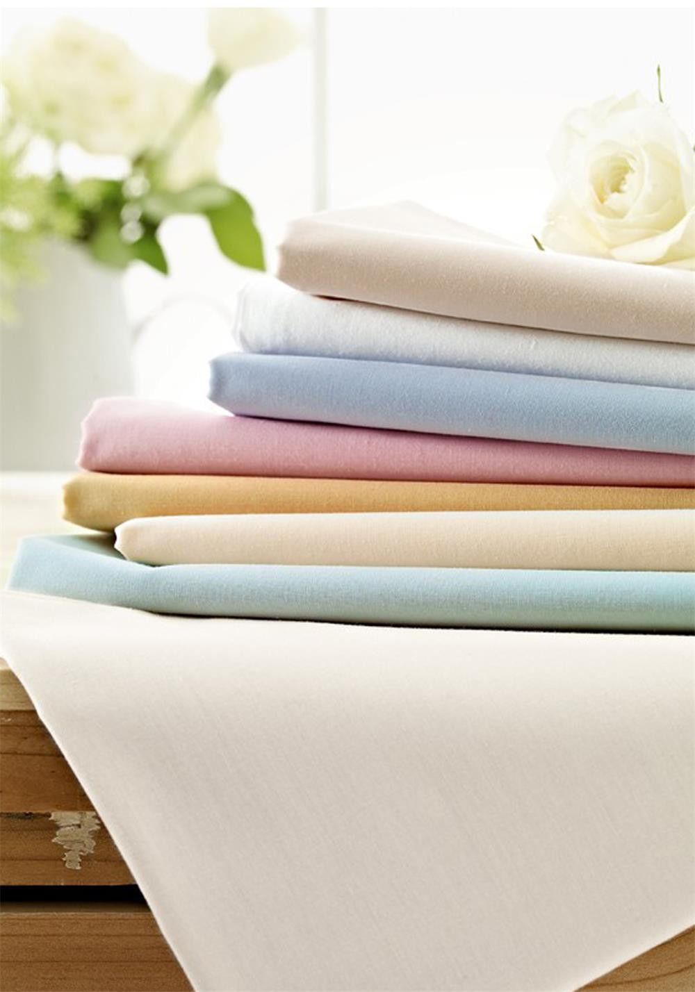 Helena Springfield 180 Thread Court Percale Flat Sheet, Soft Gold