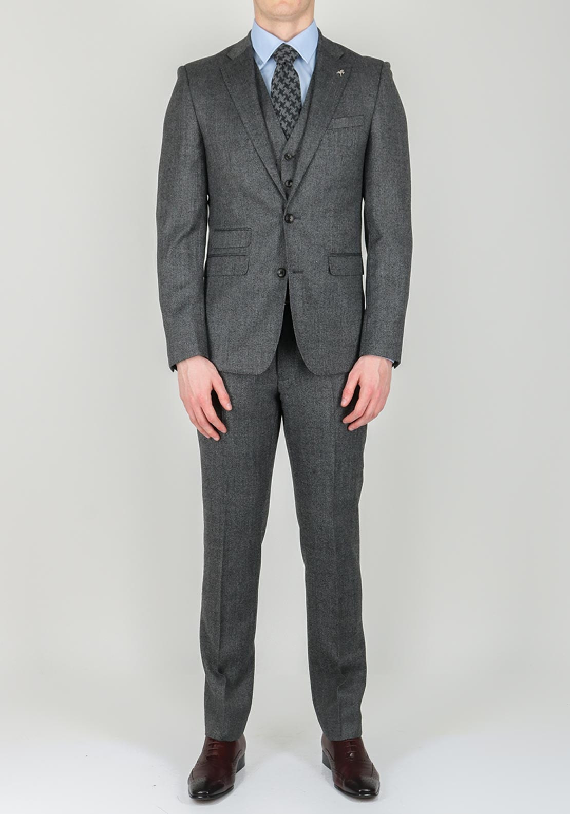 Herbie Frogg Tweed Grey 3 Piece Suit Mcelhinneys