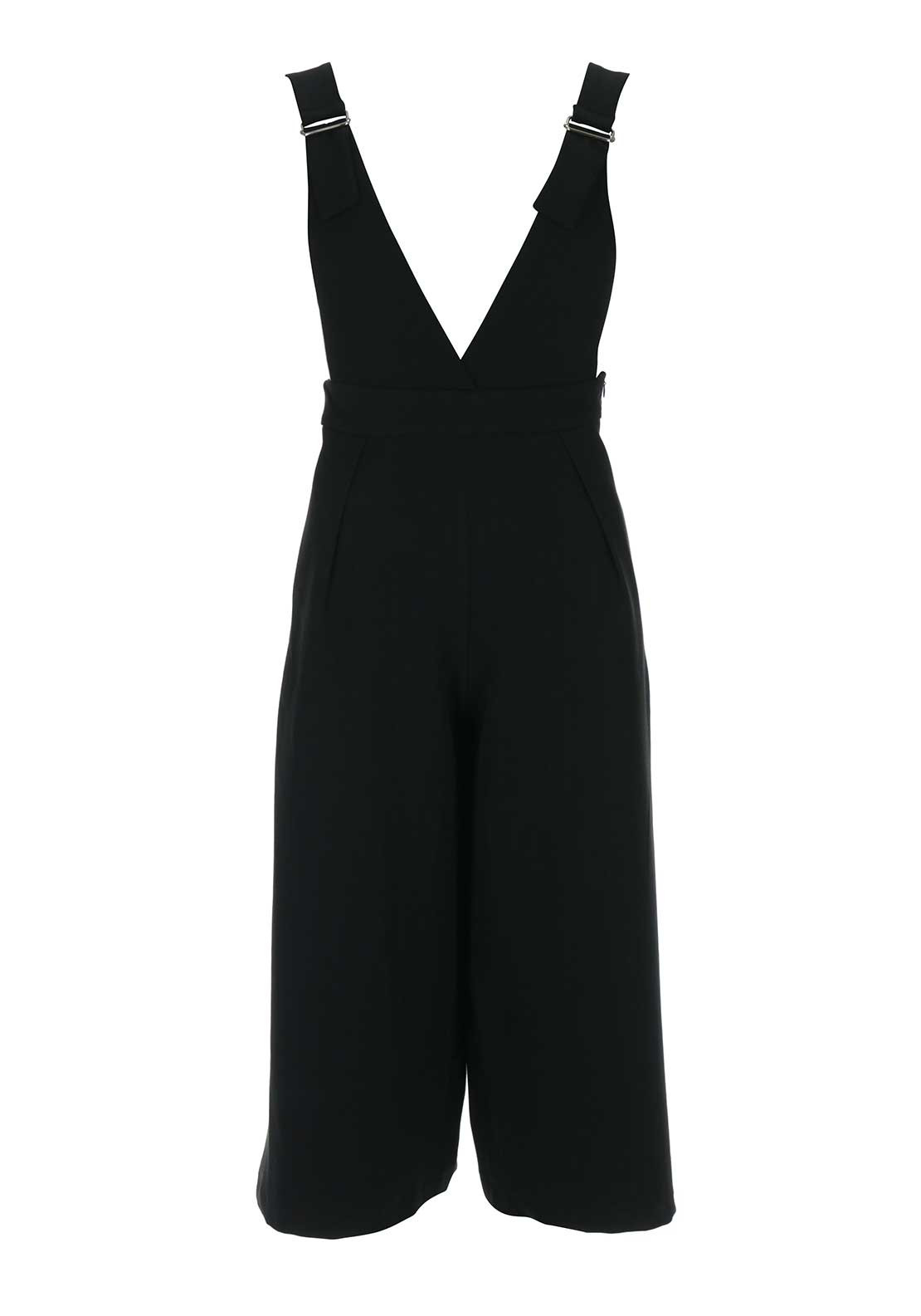 Boutique Cropped Leg Jumpsuit, Black