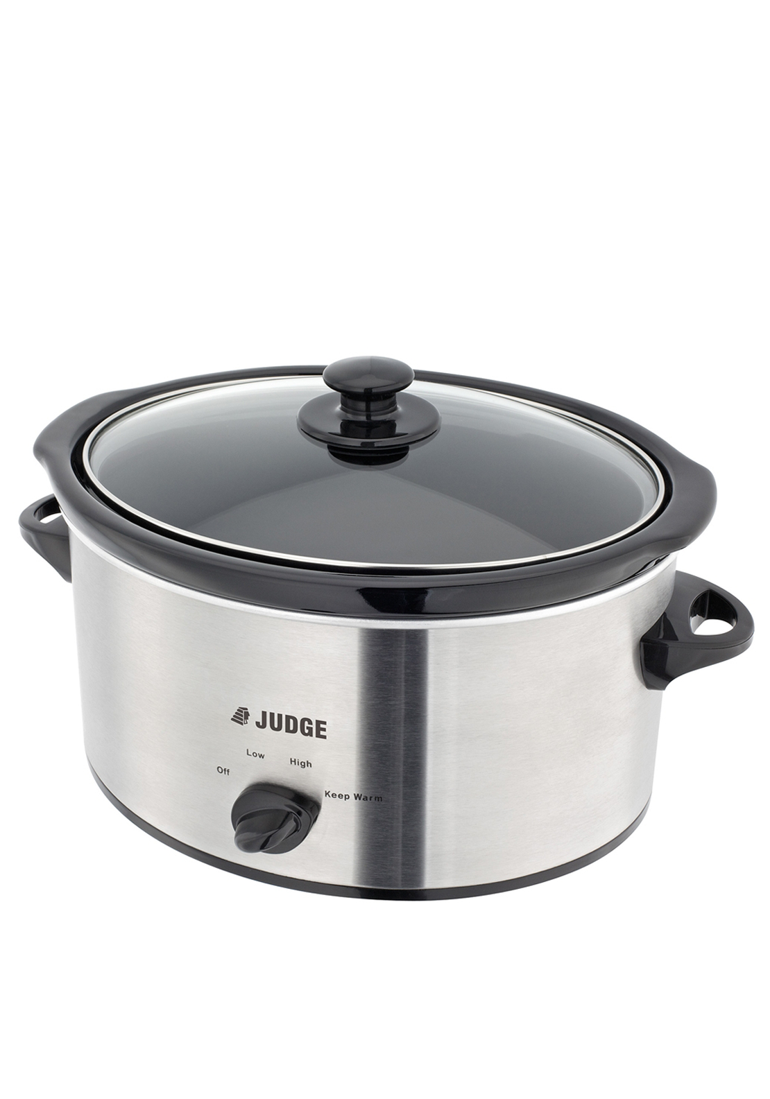 Judge Three Setting Slow Cooker, 3.5L Silver