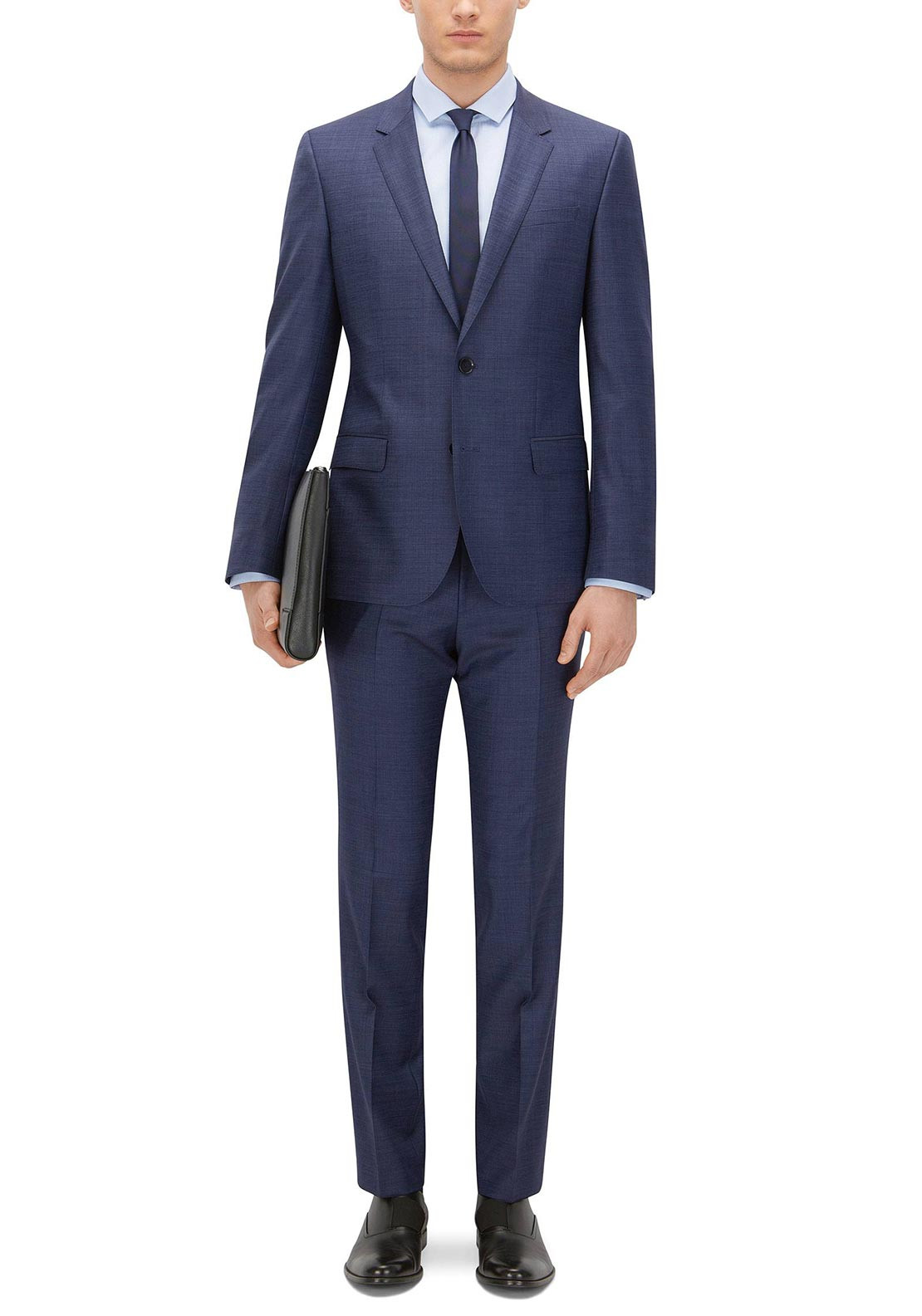 25195bc9a6 Hugo Boss Men's Huge Genius Fit 2-Piece Suit, Plain Navy. Be the first to  review this product