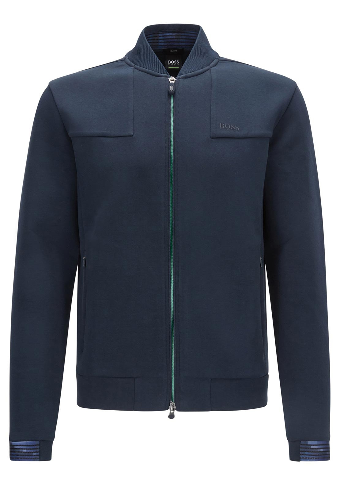 6dbcfe3408 Hugo Boss Sicon Slim Fit Zip Up Jacket, Navy | McElhinneys