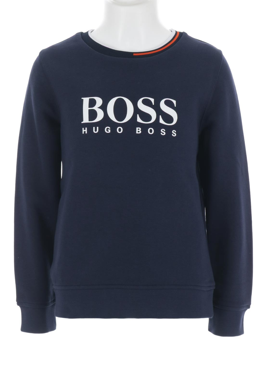 387b6c5da5 Hugo Boss Boys Logo Sweatshirt, Navy | McElhinneys