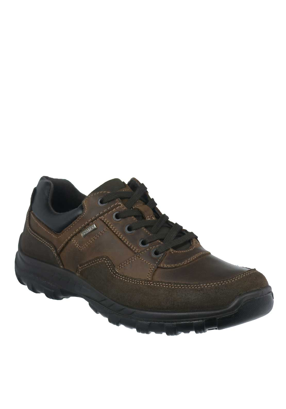 IMAC Mens Corbett Lace Up Comfort Fit Shoes, Brown