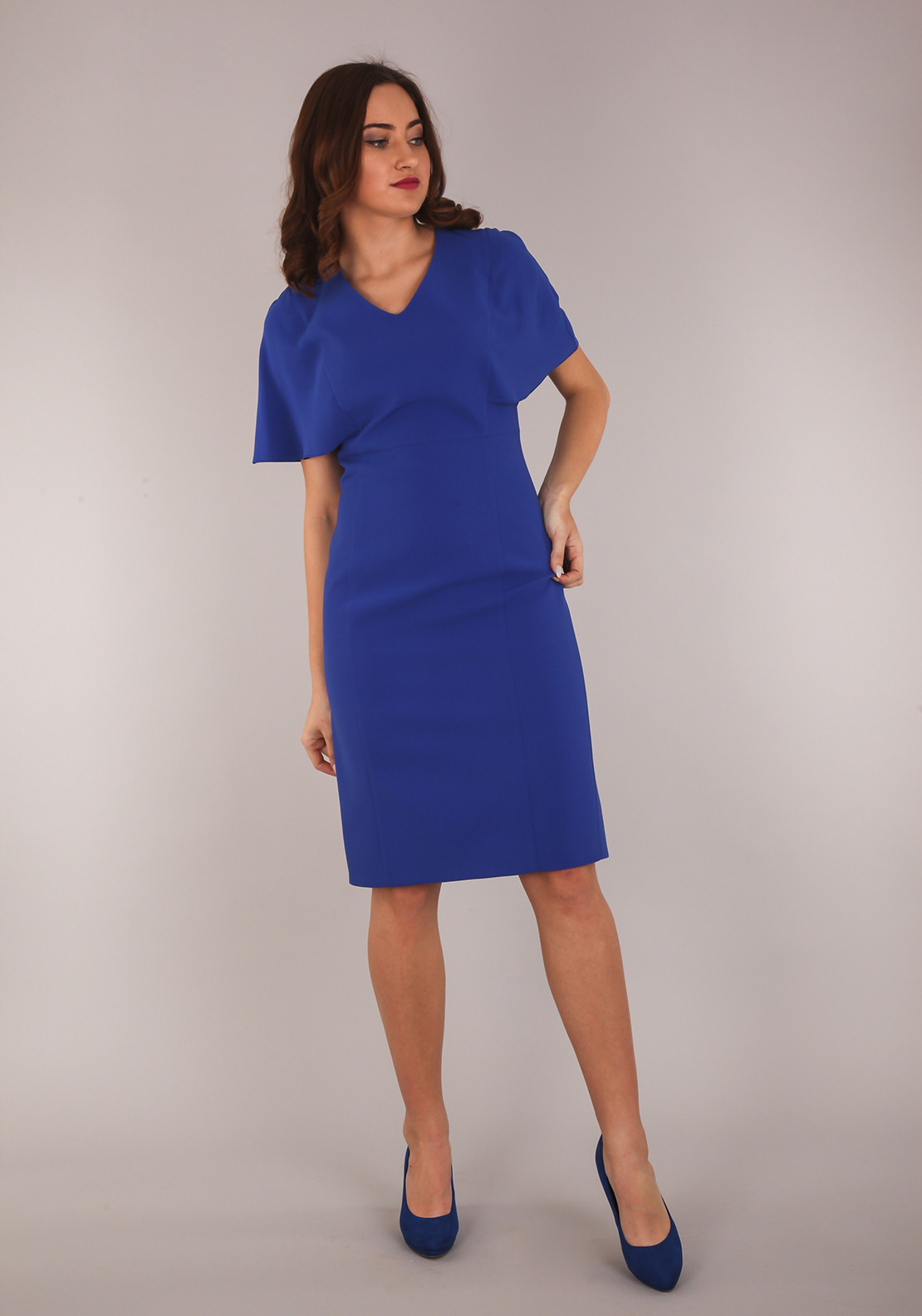 Ella Boo Wide Sleeve Pencil Dress, Royal Blue