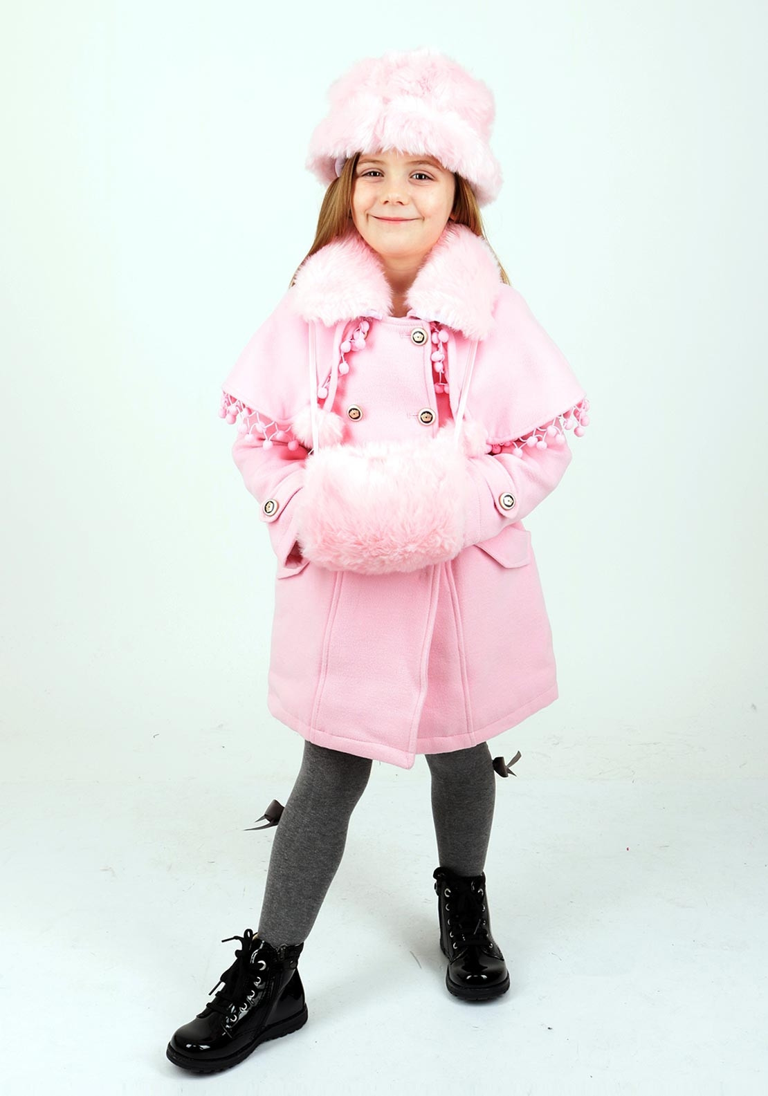 f906753c30d Couche Tot Girls Coat Hat and Muff