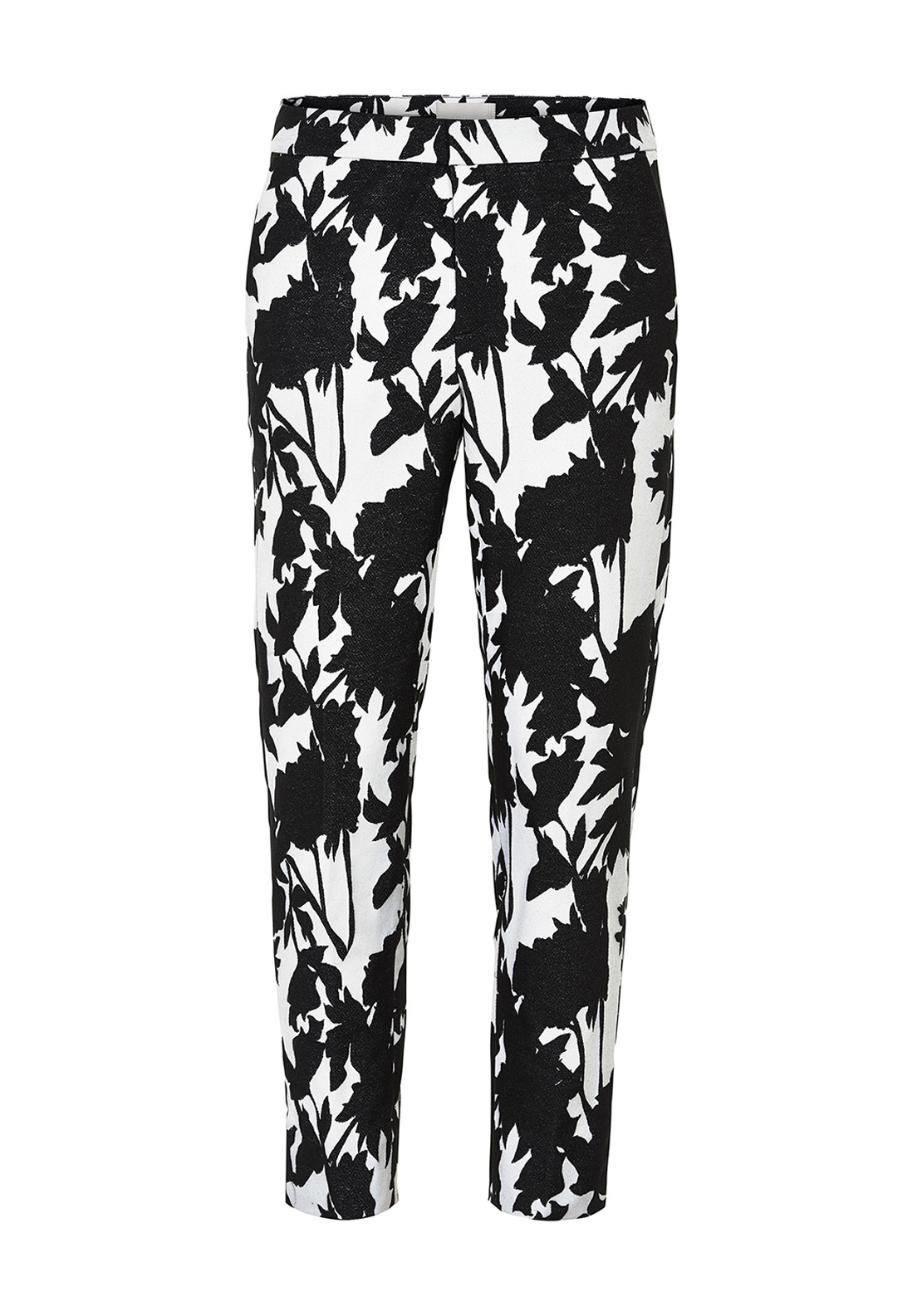 Inwear Ziva Printed 7/8 Length Trousers, Black & White