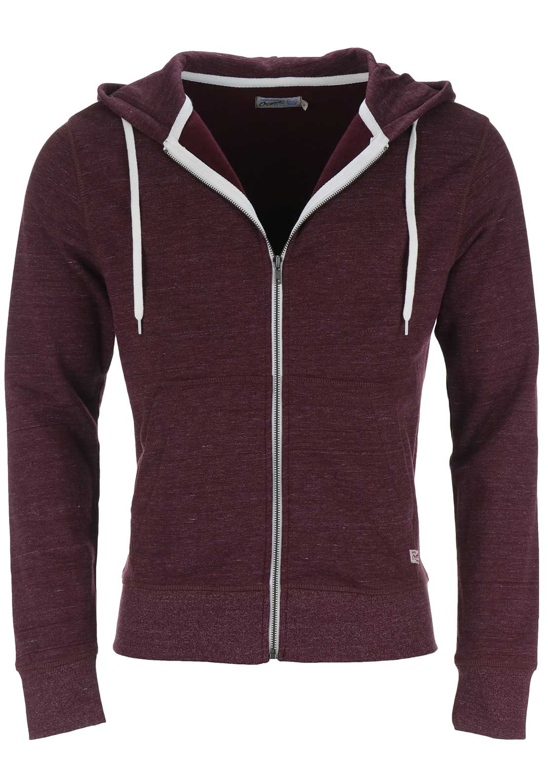 Jack & Jones Originals Storm Zip Up Hoodie, Wine