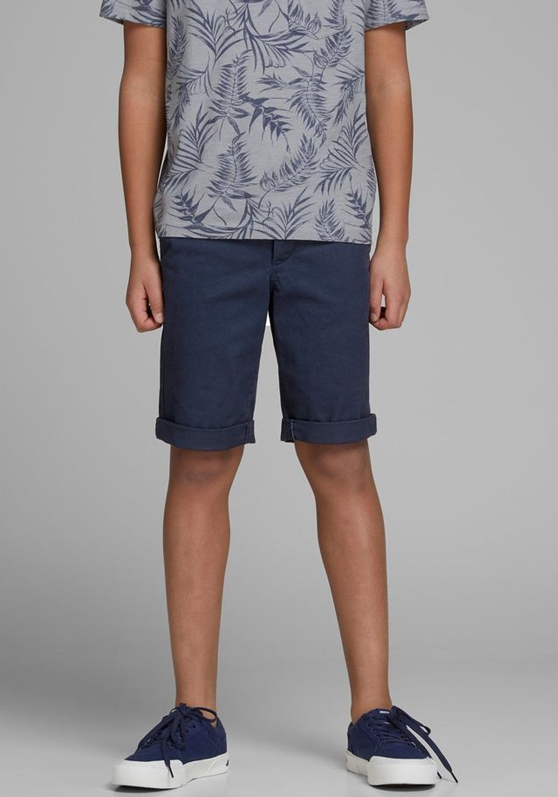 1dd9d63575 Jack & Jones Boys Jienzo Chino Shorts, Navy | McElhinneys