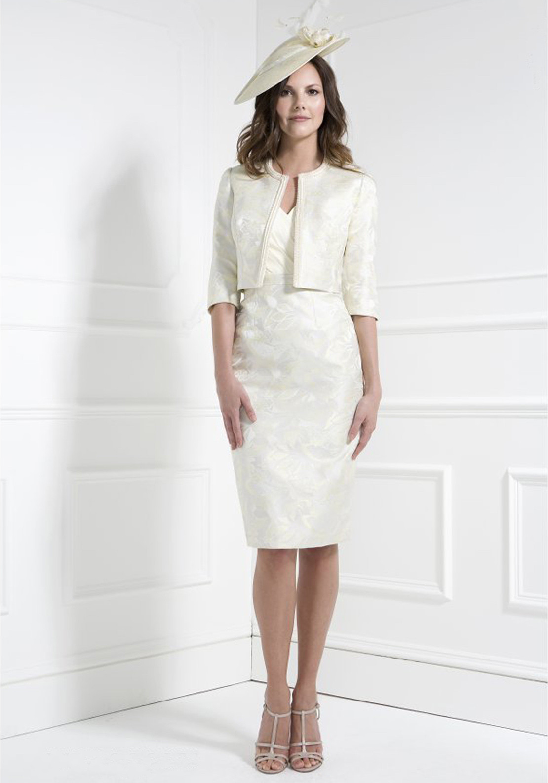John Charles Dress and Jacket, Lemon