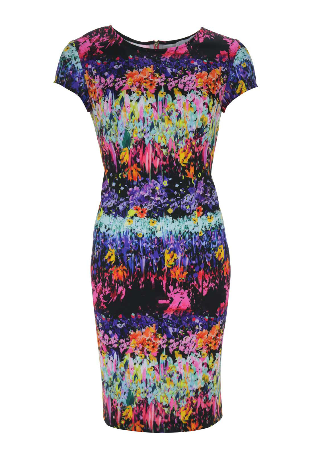 Joseph Ribkoff Abstract Floral Print Dress, Multi-Coloured