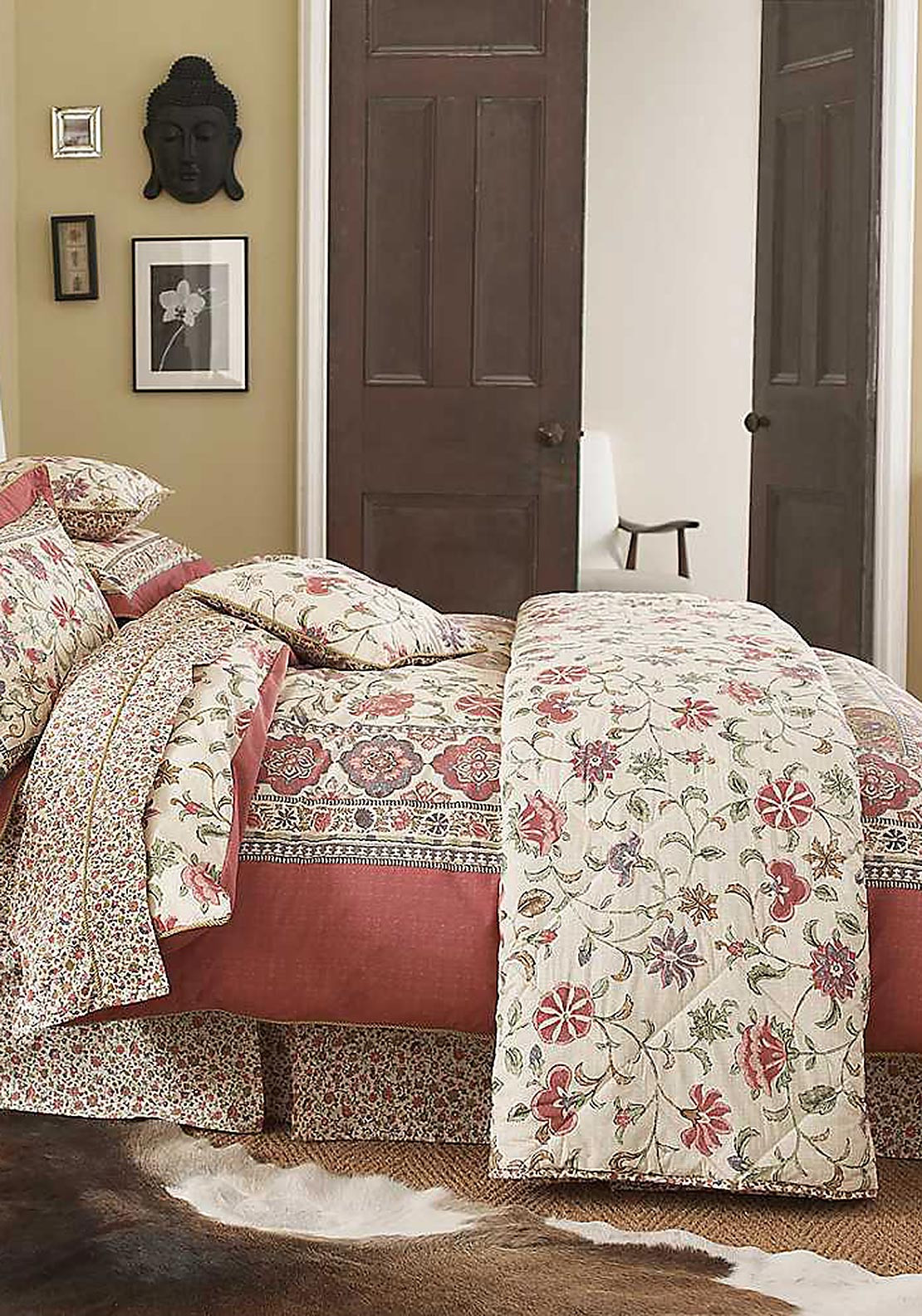 V&A Kalamkari Fitted Sheet, Multi