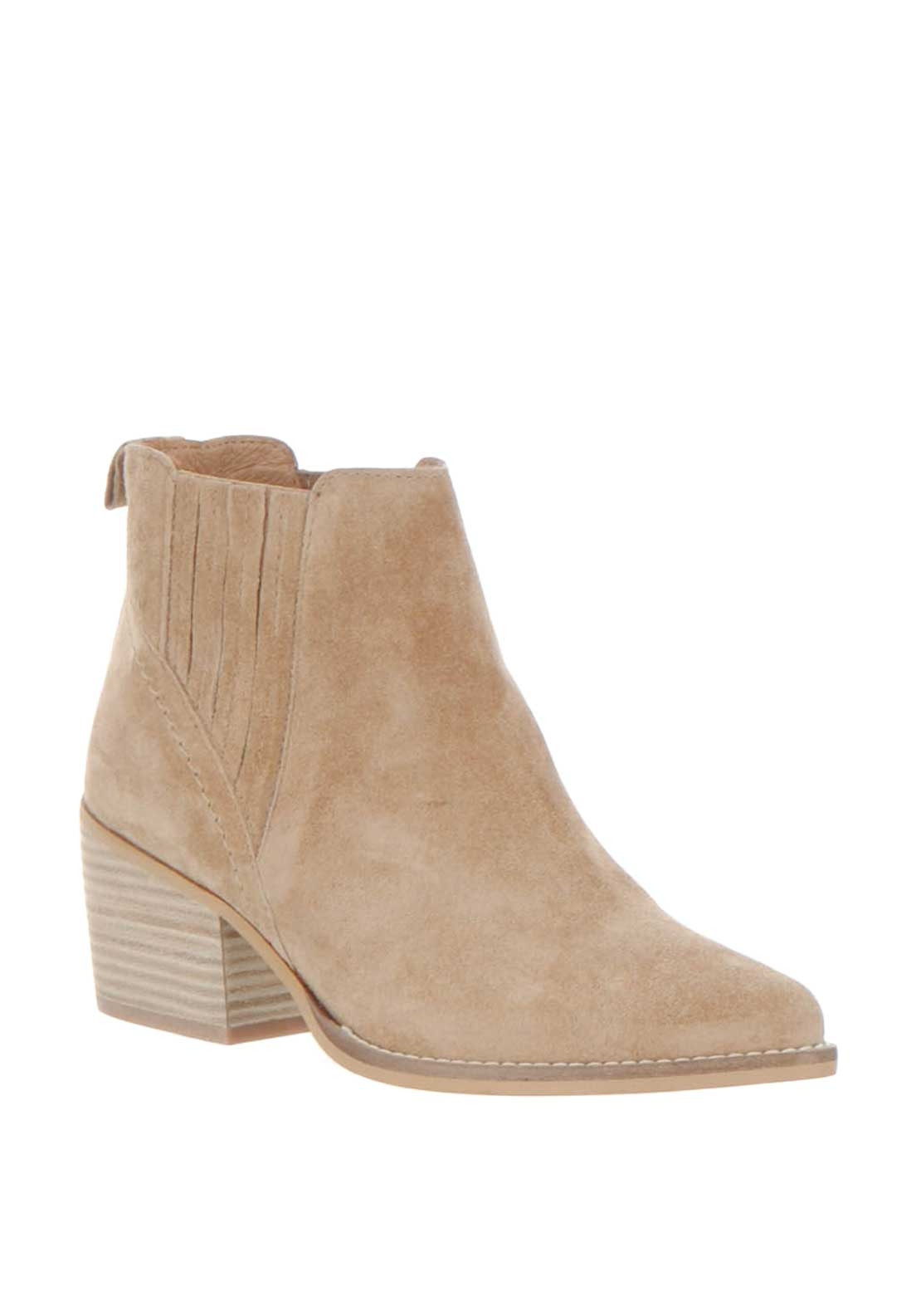 0988e8edf9ec9 Alpe Suede Western Ankle Boots, Camel | McElhinneys