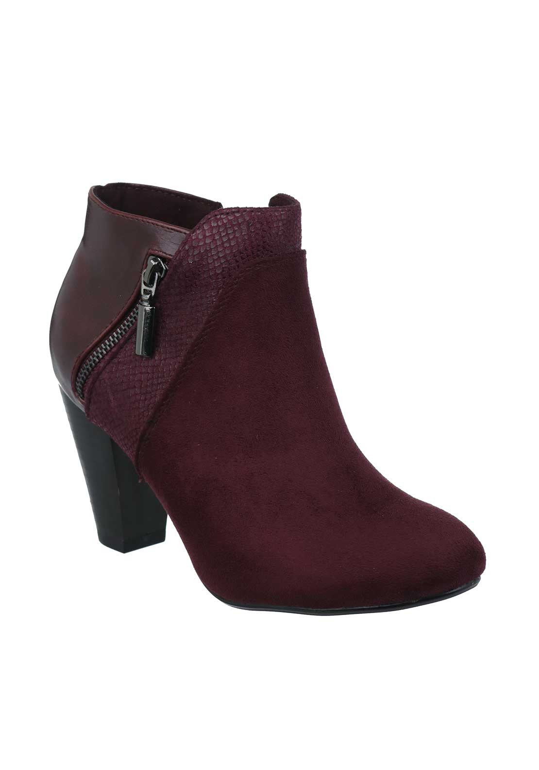 Kate Appleby Albony Way Heeled Ankle Boots, Wine