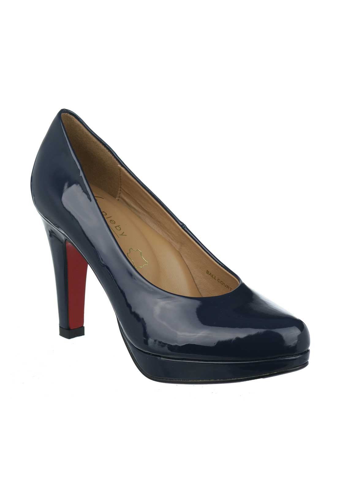 Kate Appleby Ball Court Heeled Shoes, Navy