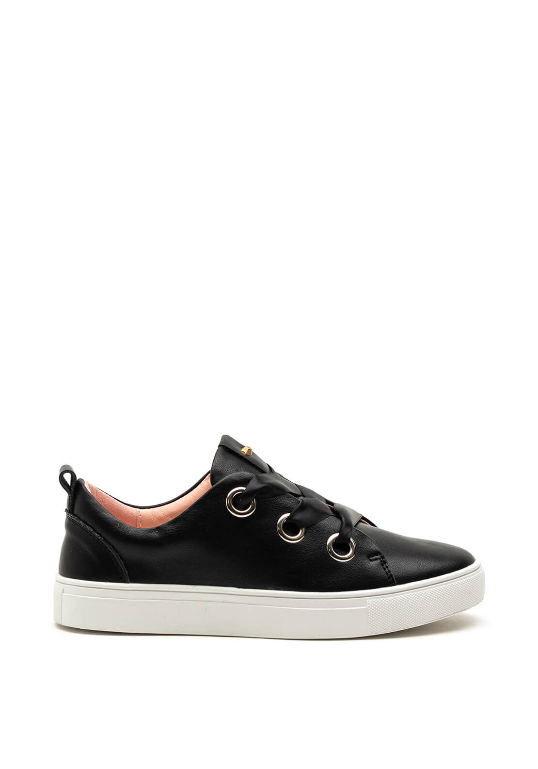 Kate Appleby Beacon Ribbon Lace Trainers, Black