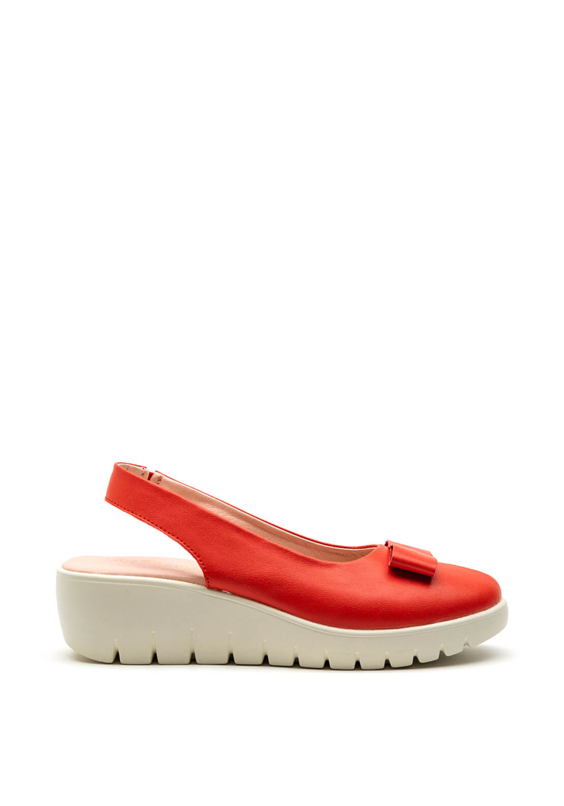 Kate Appleby Chiltern Bow Wedge Shoe, Cherry Red