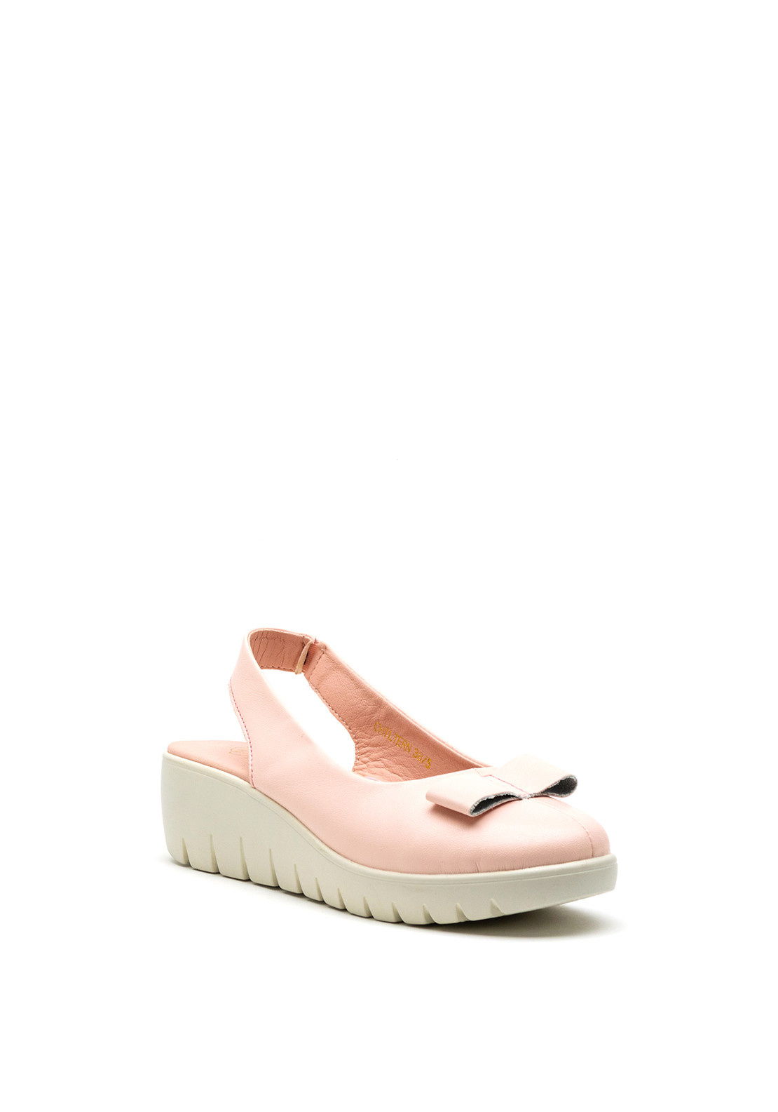 Kate Appleby Chiltern Bow Wedge Shoe, Pink
