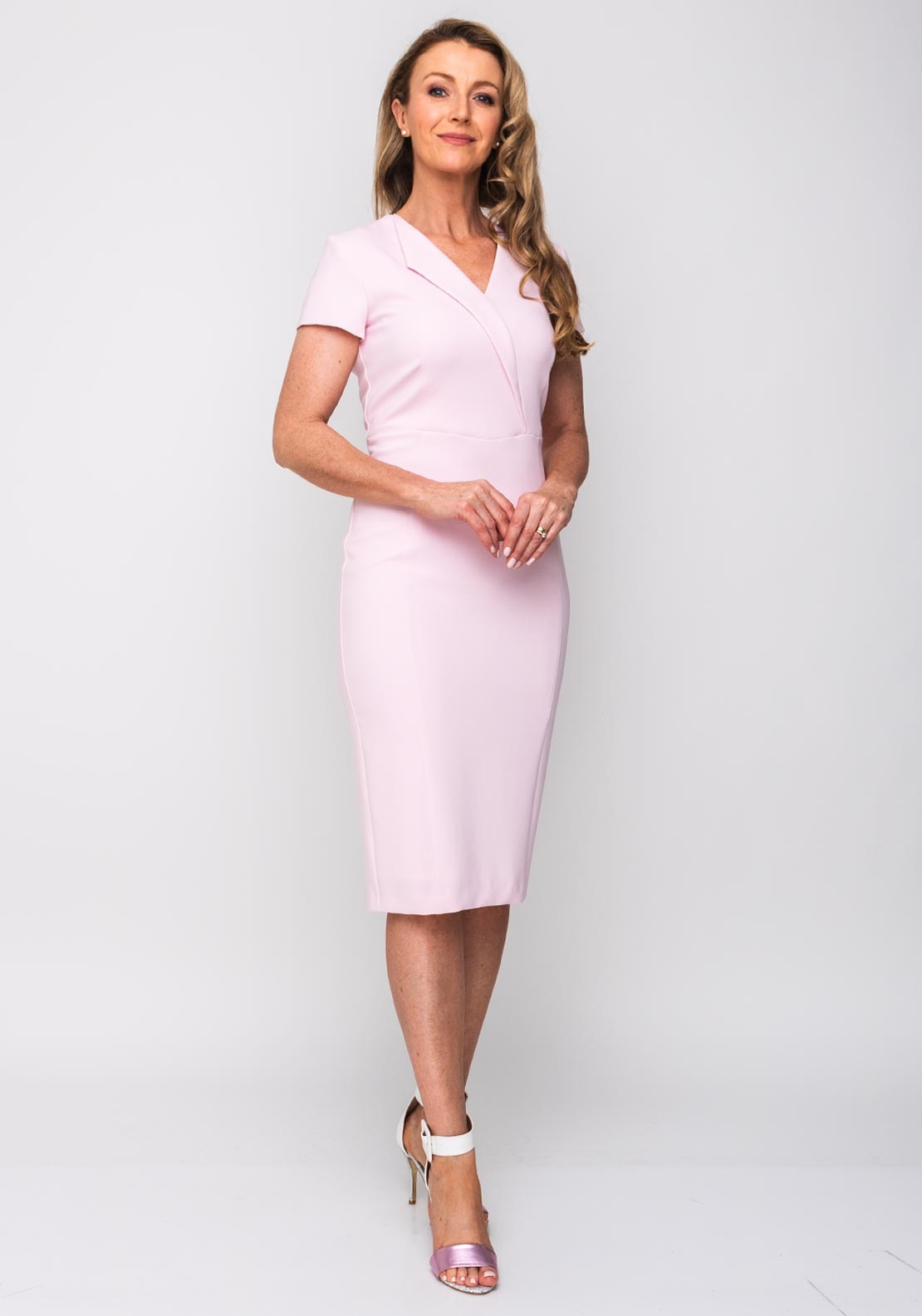 a76544a6cab8e Kate Cooper V-Neck Pencil Dress, Powder Pink. Be the first to review this  product. Kate Cooper V-Neck Pencil Dress, Powder Pink