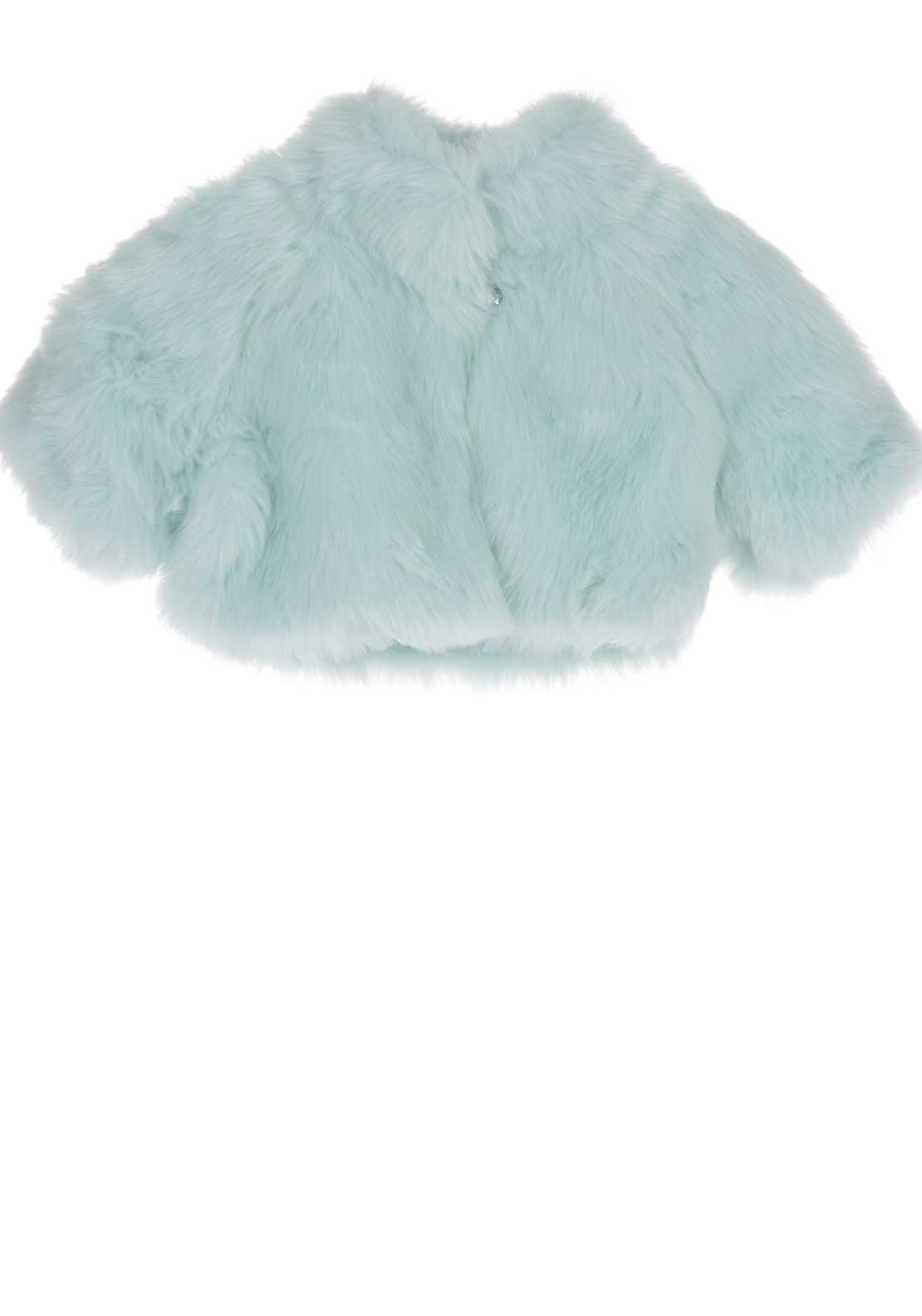 Kate Mack Faux Fur Bolero Jacket, Mint