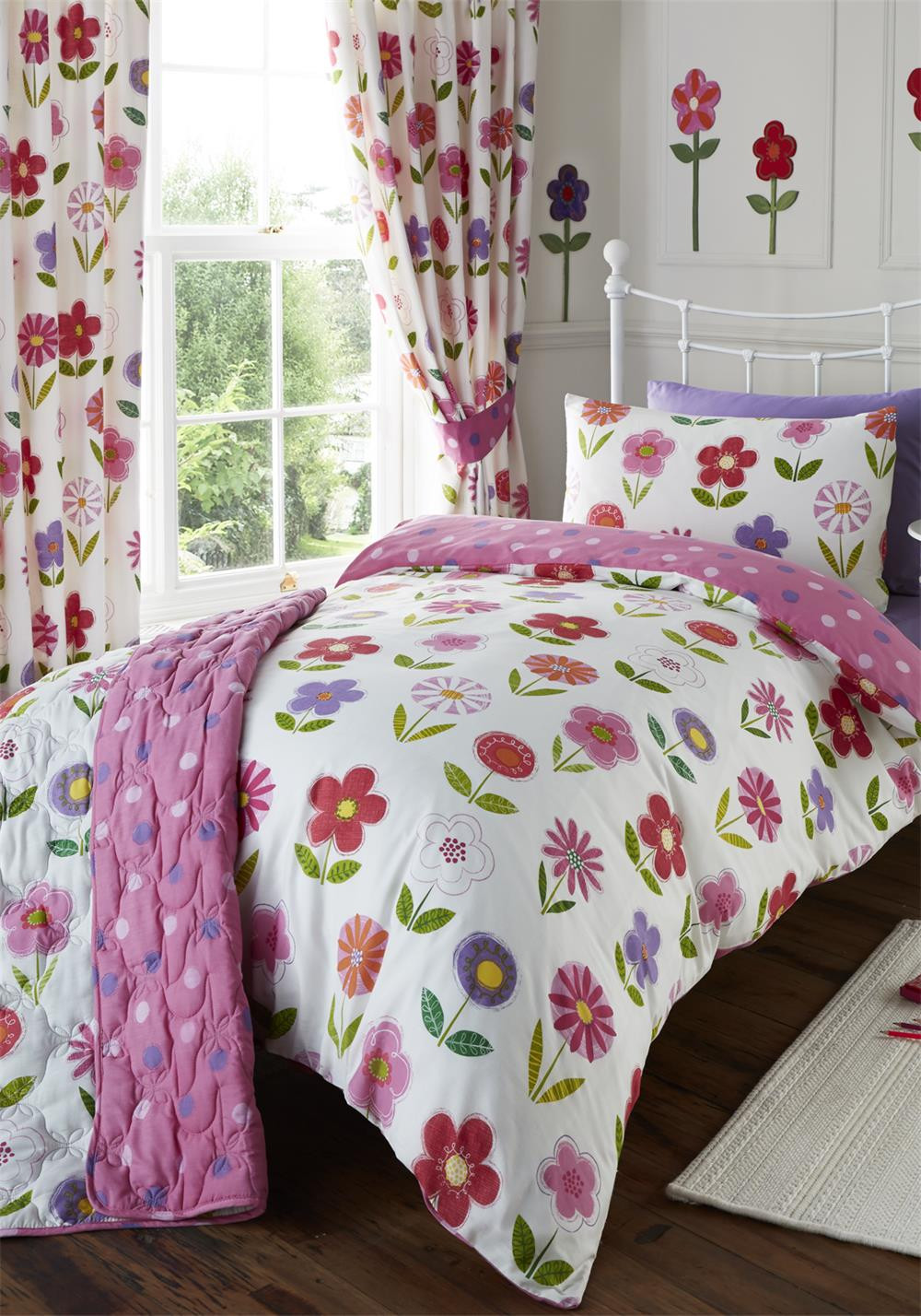 Kids Club Little Flowers Duvet Cover Set, Pink