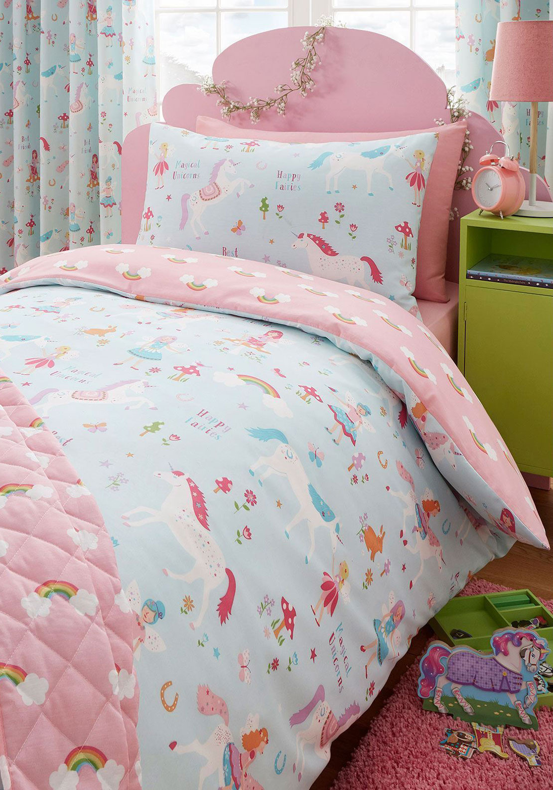 Kids Club Magical Unicorns Duvet Cover Set