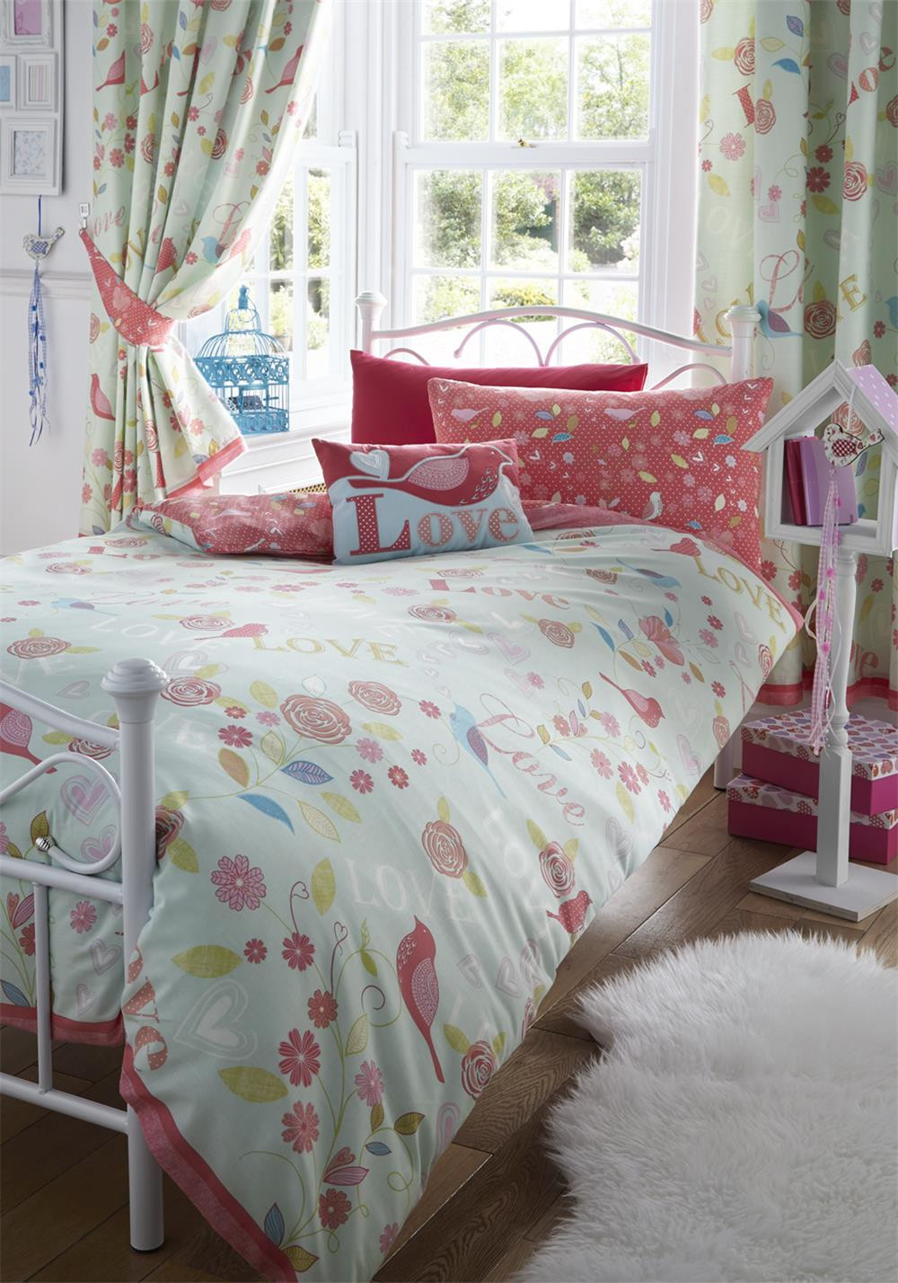 Kids Club Melody Duvet Set, Aqua