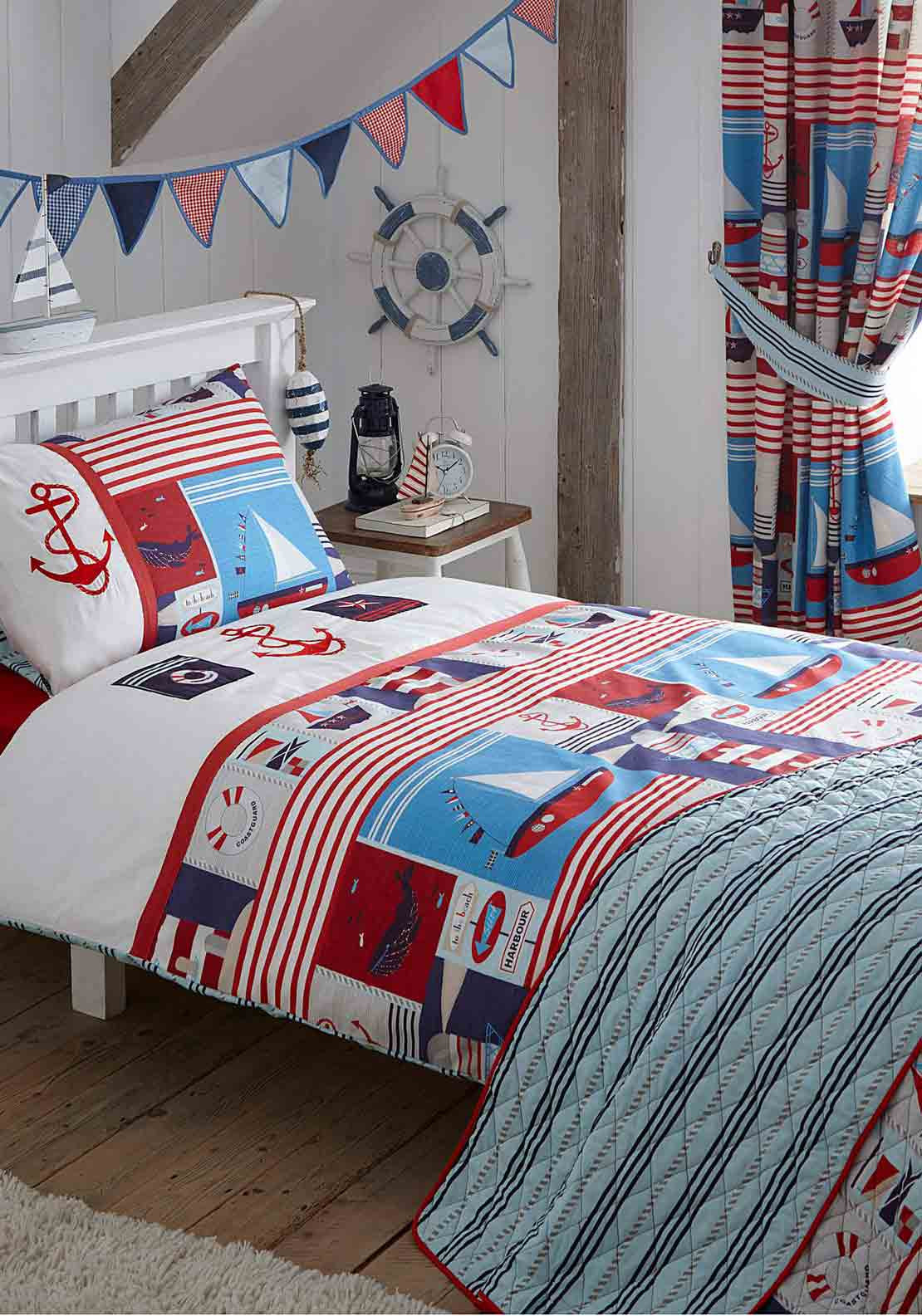 Kids Club Maritime Embroidered Duvet Set