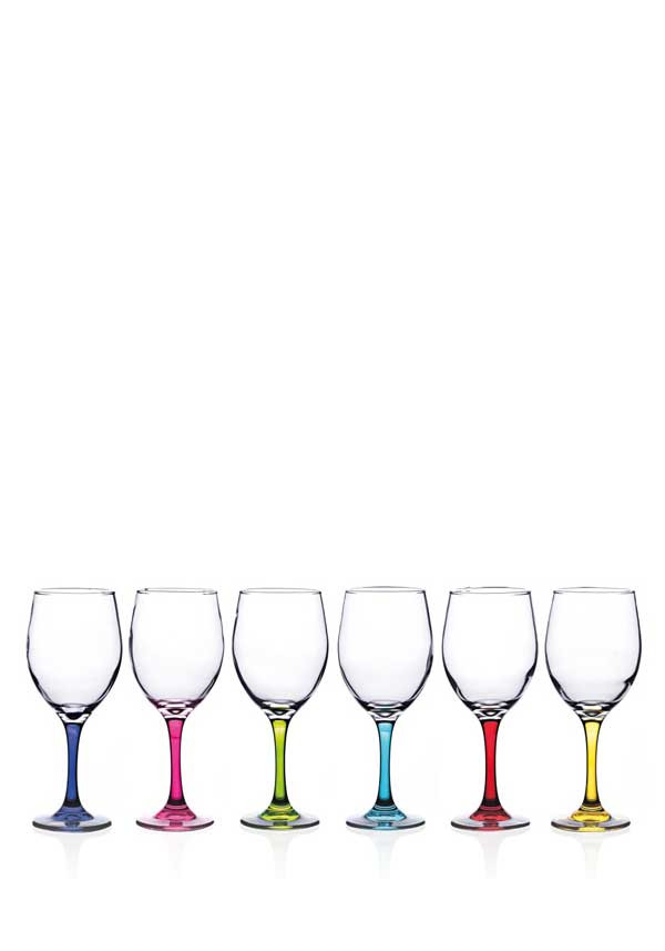 Newgrange Living Vienna Wine Glasses, Set of 6, Rainbow