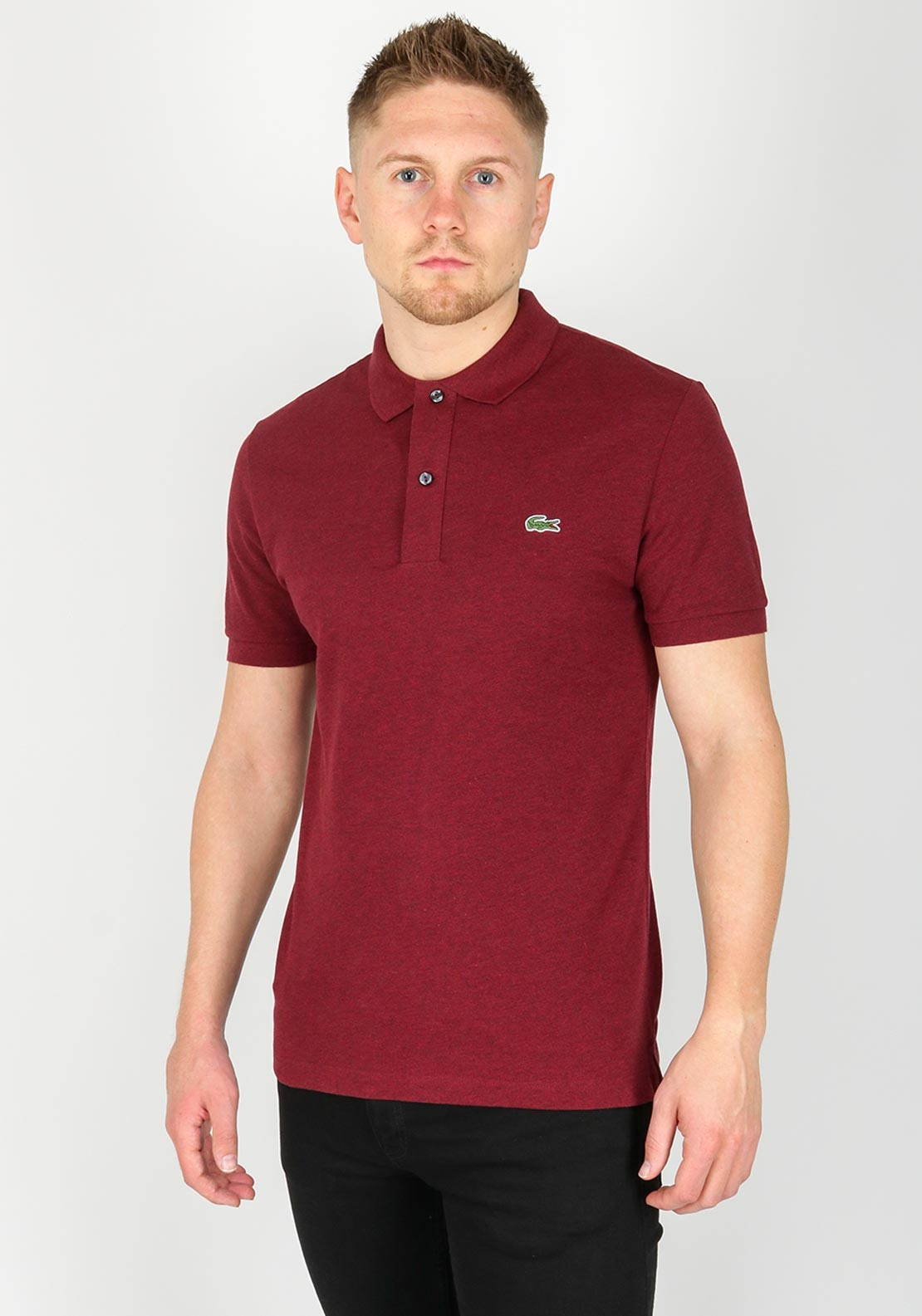 46a113c0 Lacoste Slim Fit Marl Polo Shirt, Burgundy. Be the first to review this  product