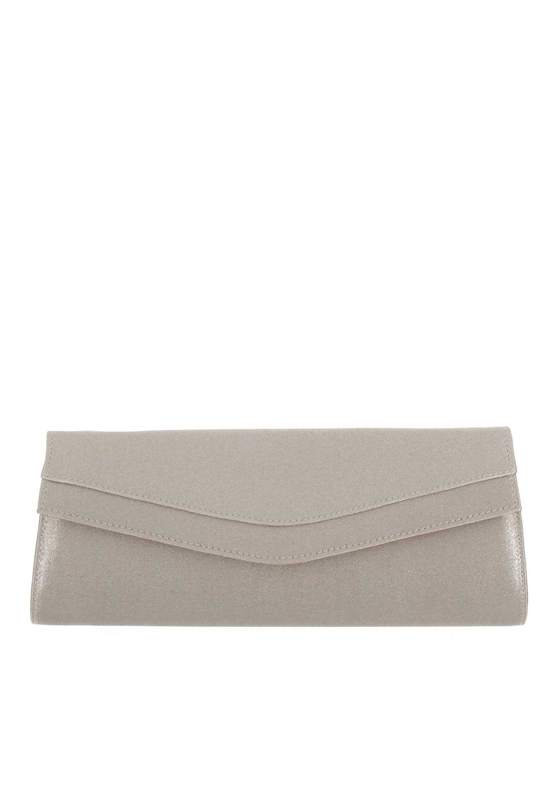 Ana Roman Satin Clutch Bag, Vintage Gold