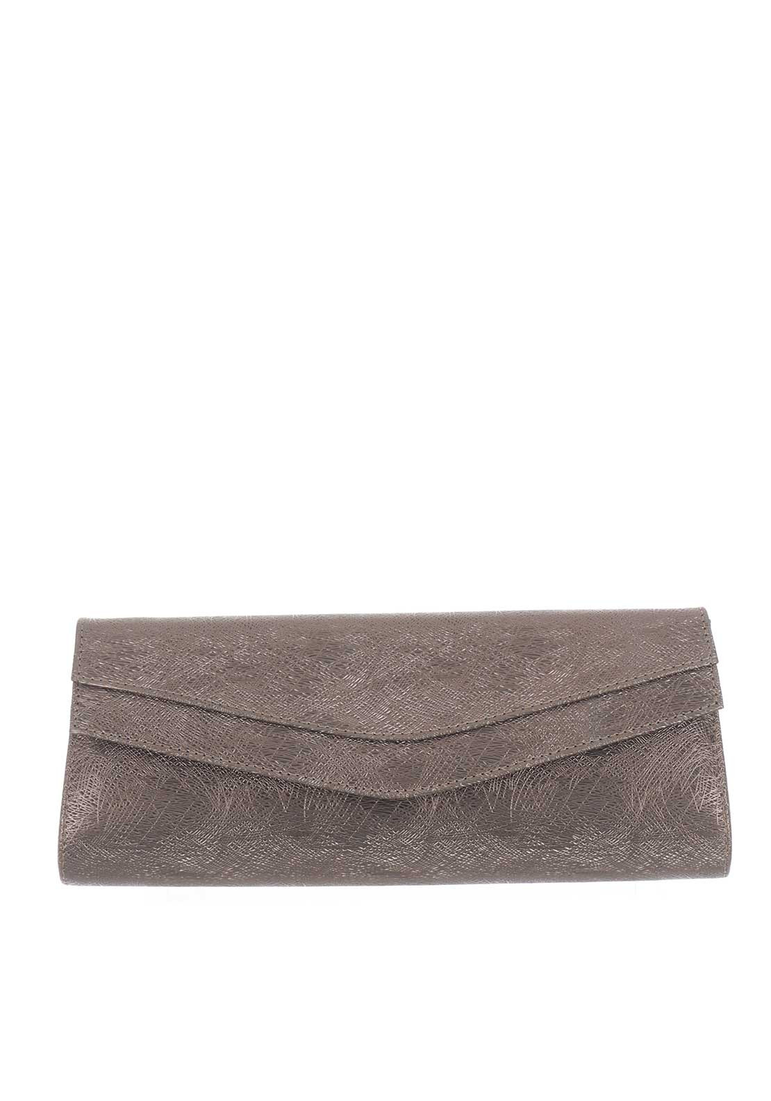 Ana Roman Textured Clutch Bag, Bronze