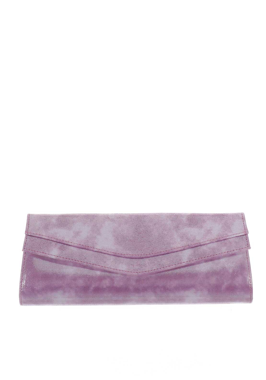 Ana Roman Shimmer Clutch Bag, Purple
