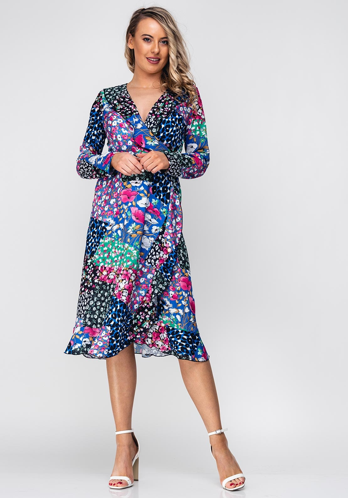 380f0df14122 Seventy1 Patchwork Flower Wrap Dress, Multi. Be the first to review this  product
