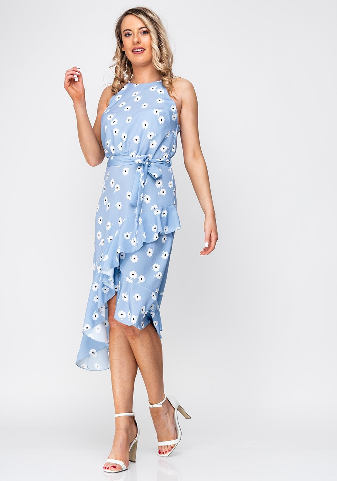9c6b044f64ea Seventy1 Flower Frill Asymmetric Dress, Blue. Be the first to review this  product