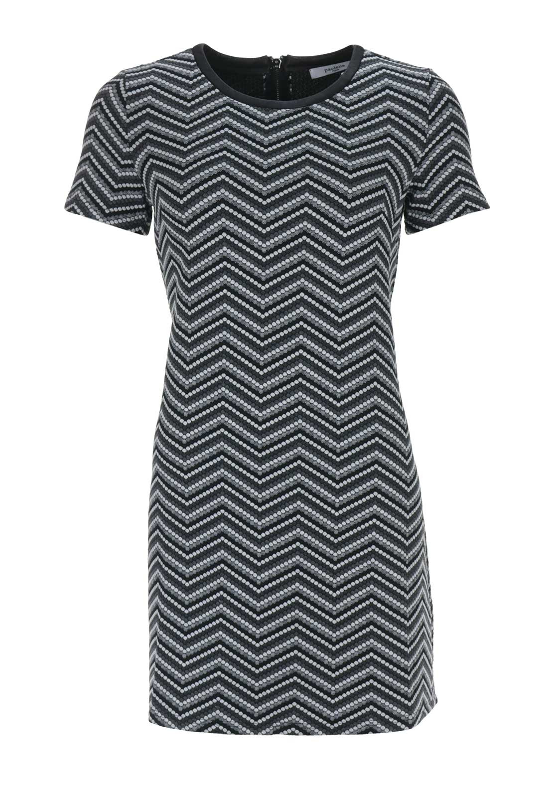 Boutique Chevron Jersey Dress, Grey