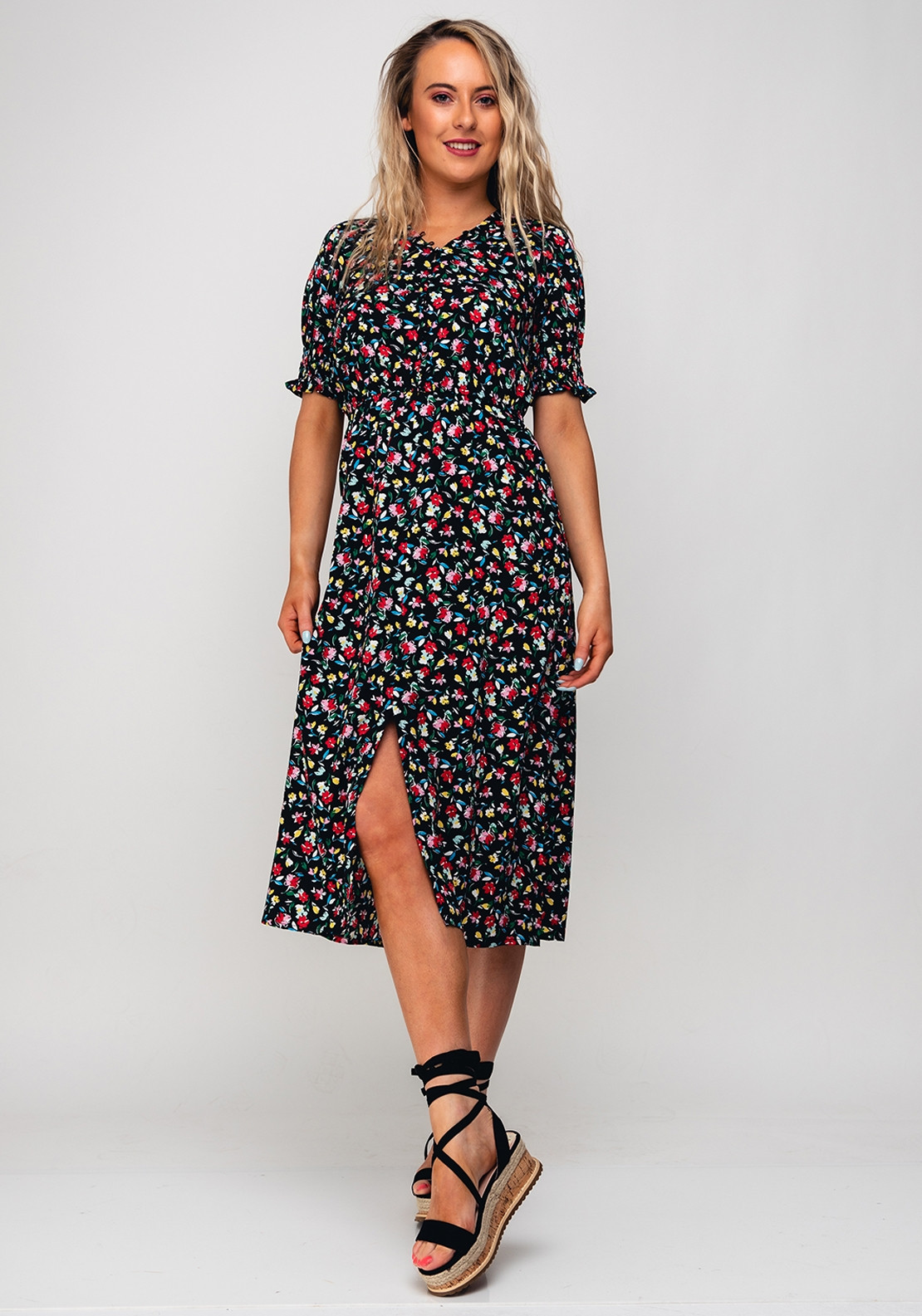 38a24c7412c4 Seventy1 Floral Print Dress, Black. Be the first to review this product