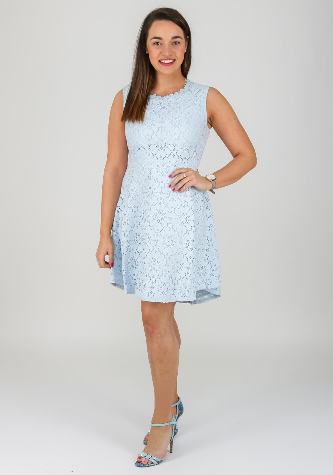 7ced5d87 Molly Bracken Lace Fit and Flare Dress, Blue | McElhinneys