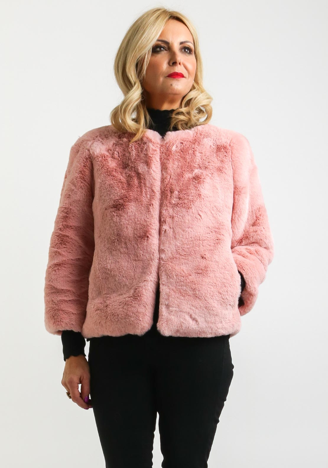 a1b871044 Zenith Collection One Size Faux Fur Jacket