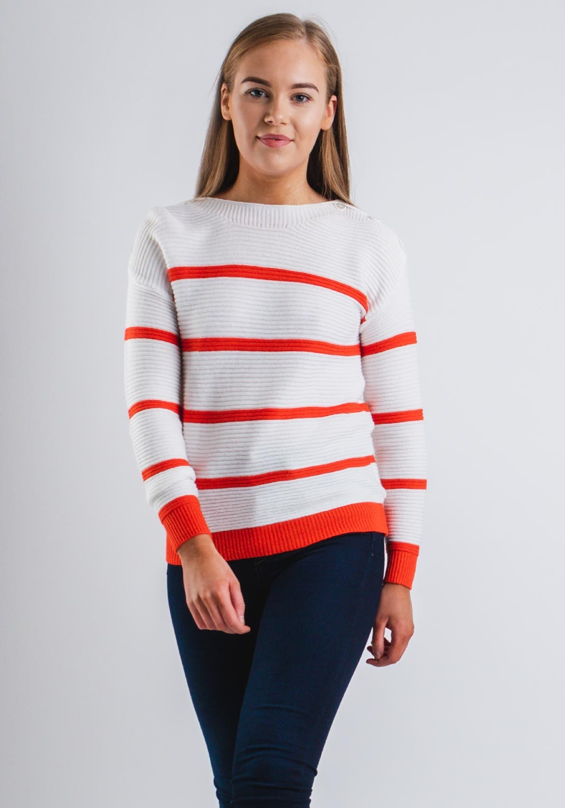 033743178 Boutique Striped Knit One Size Jumper