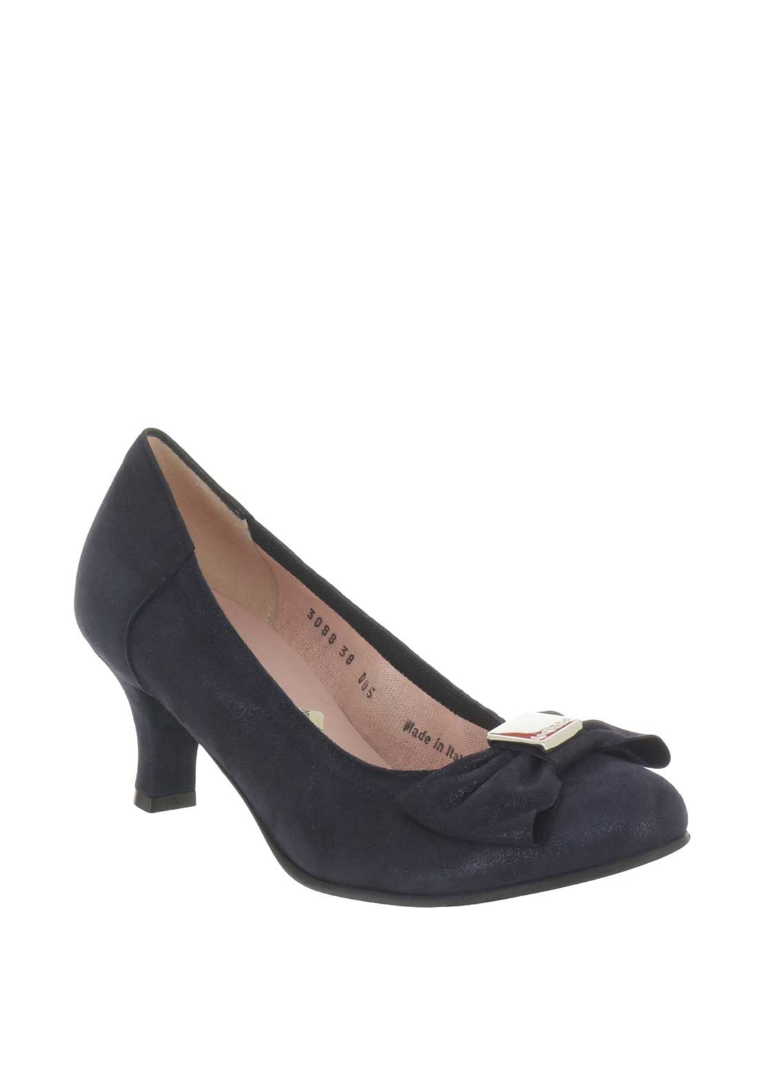 115d615561f Le Babe Suede Bow Low Heeled Shoes