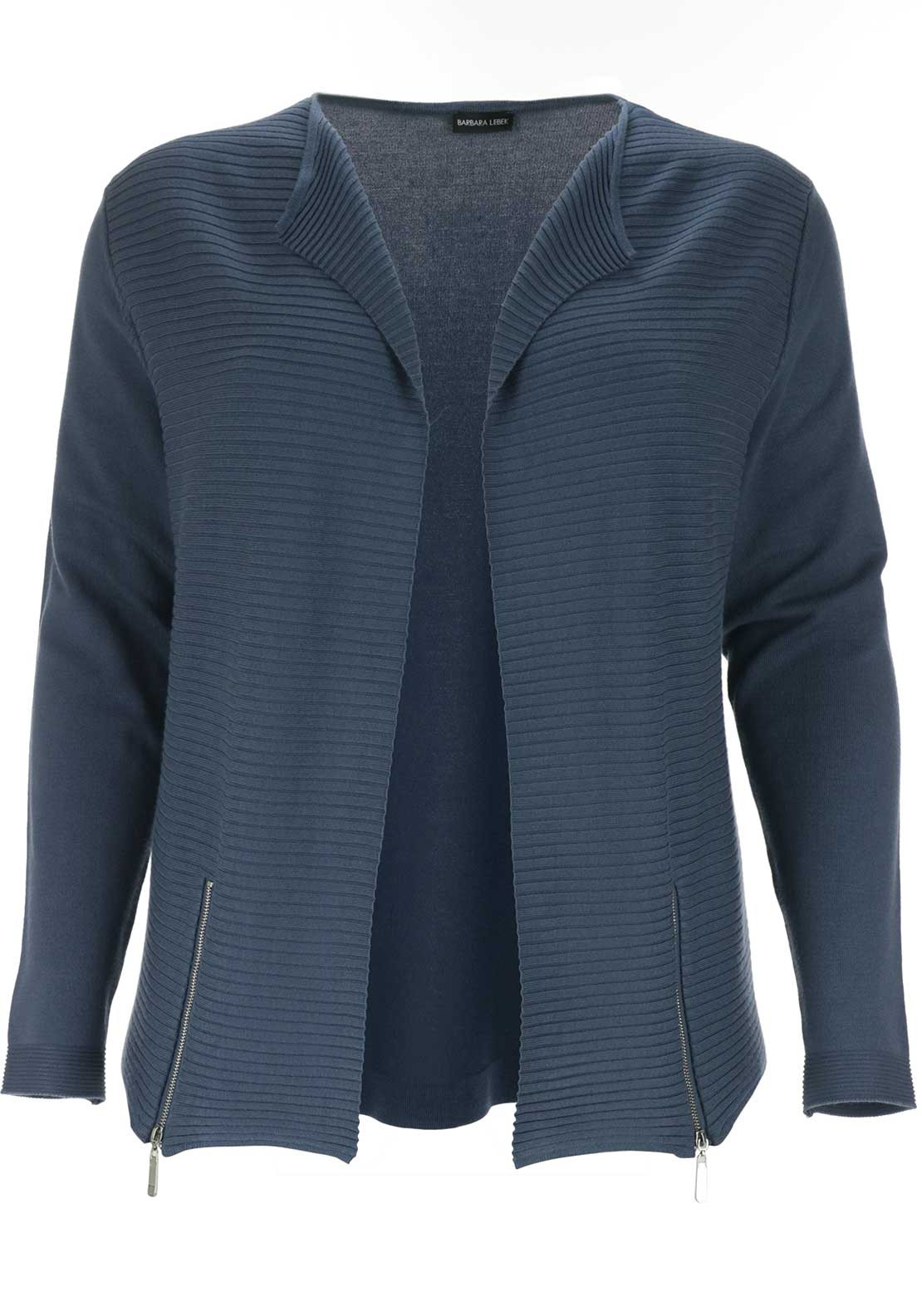 Barbara Lebek Ribbed Panel Cardigan, Blue