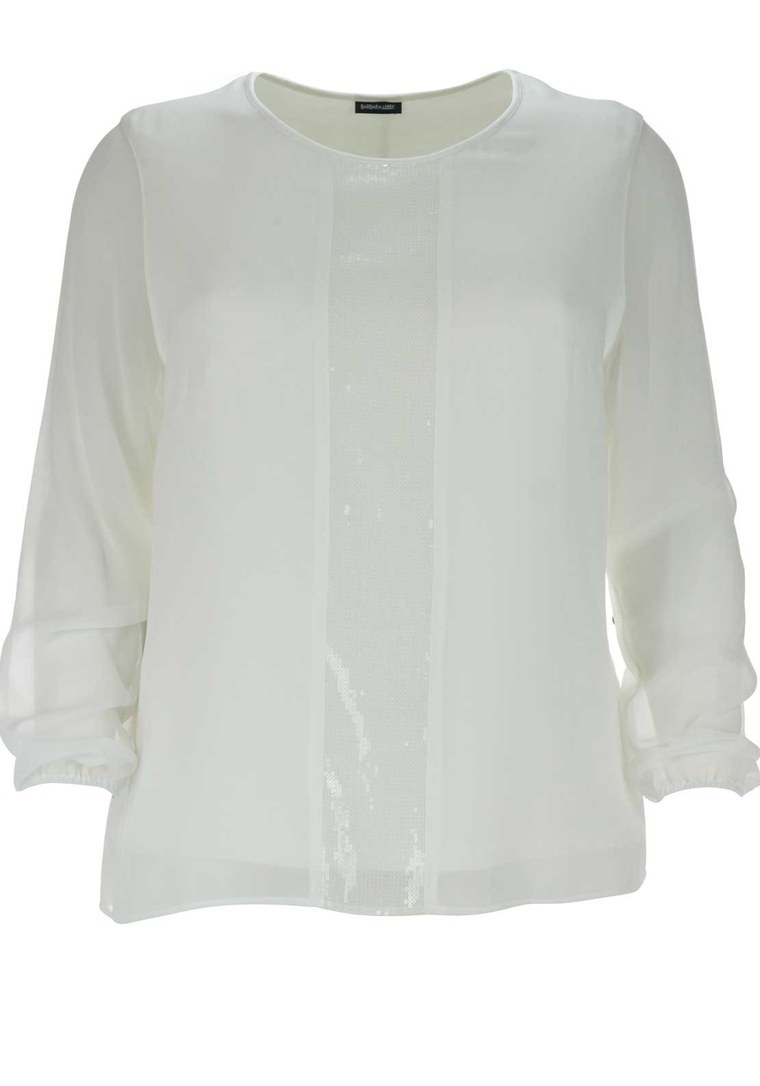 Barbara Lebek Sequin Panel Top, White