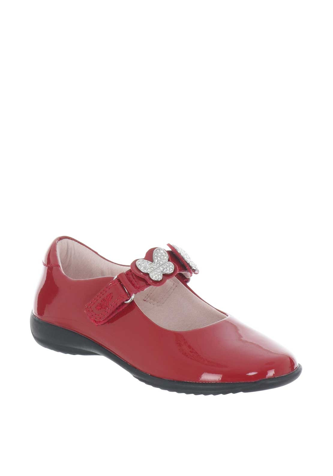 54f5206291c51 Lelli Kelly Girls Butterfly Patent Shoes, Red | McElhinneys