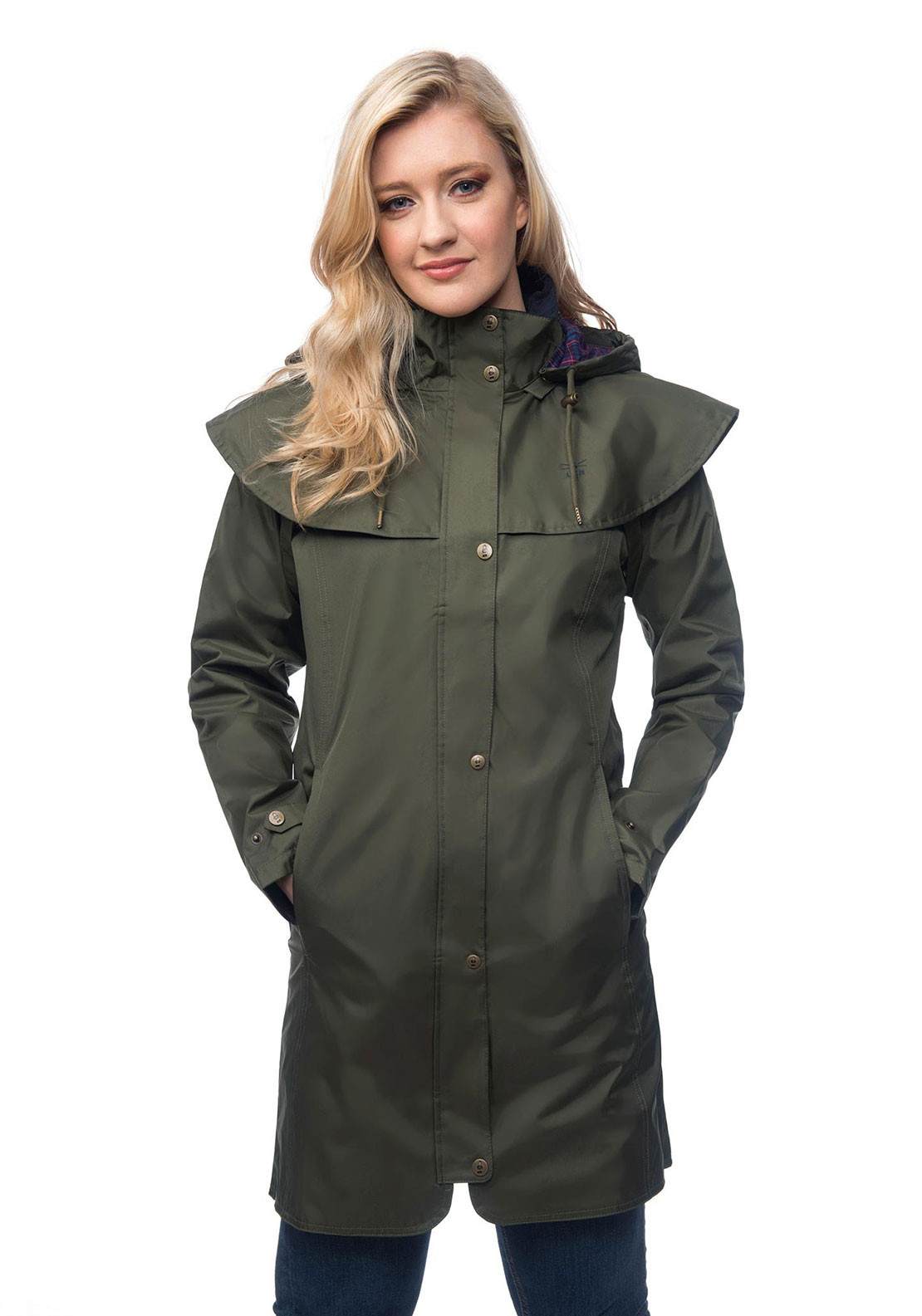 Lighthouse Outrider Hooded Raincoat, Fern Green