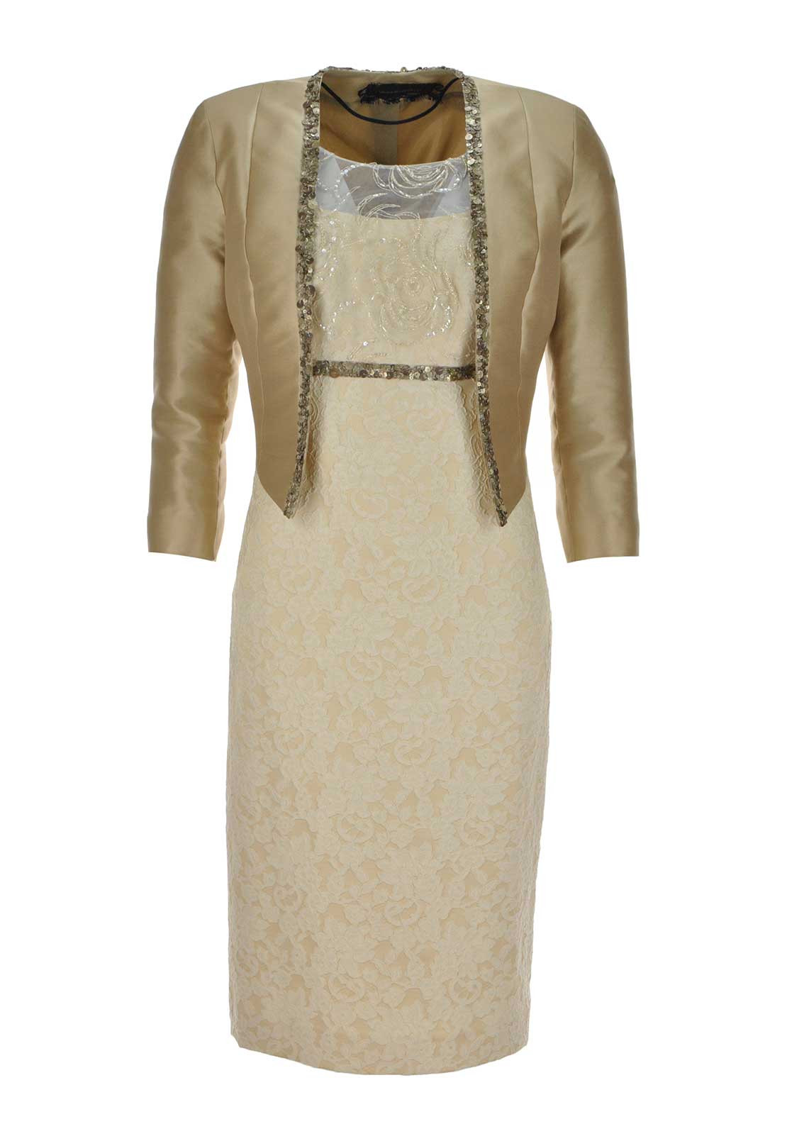 Linea Raffaelli Gold Dress and Jacket