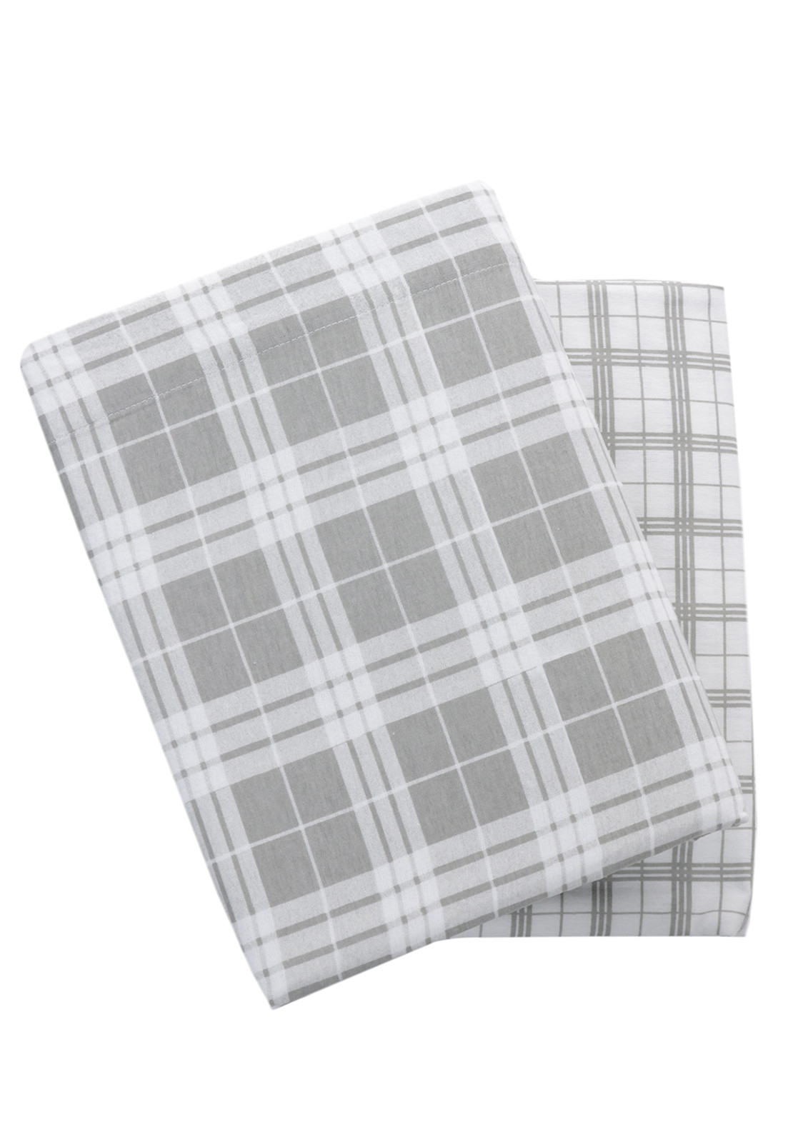 Loomcraft Quebec Grey Checked Sheet Set