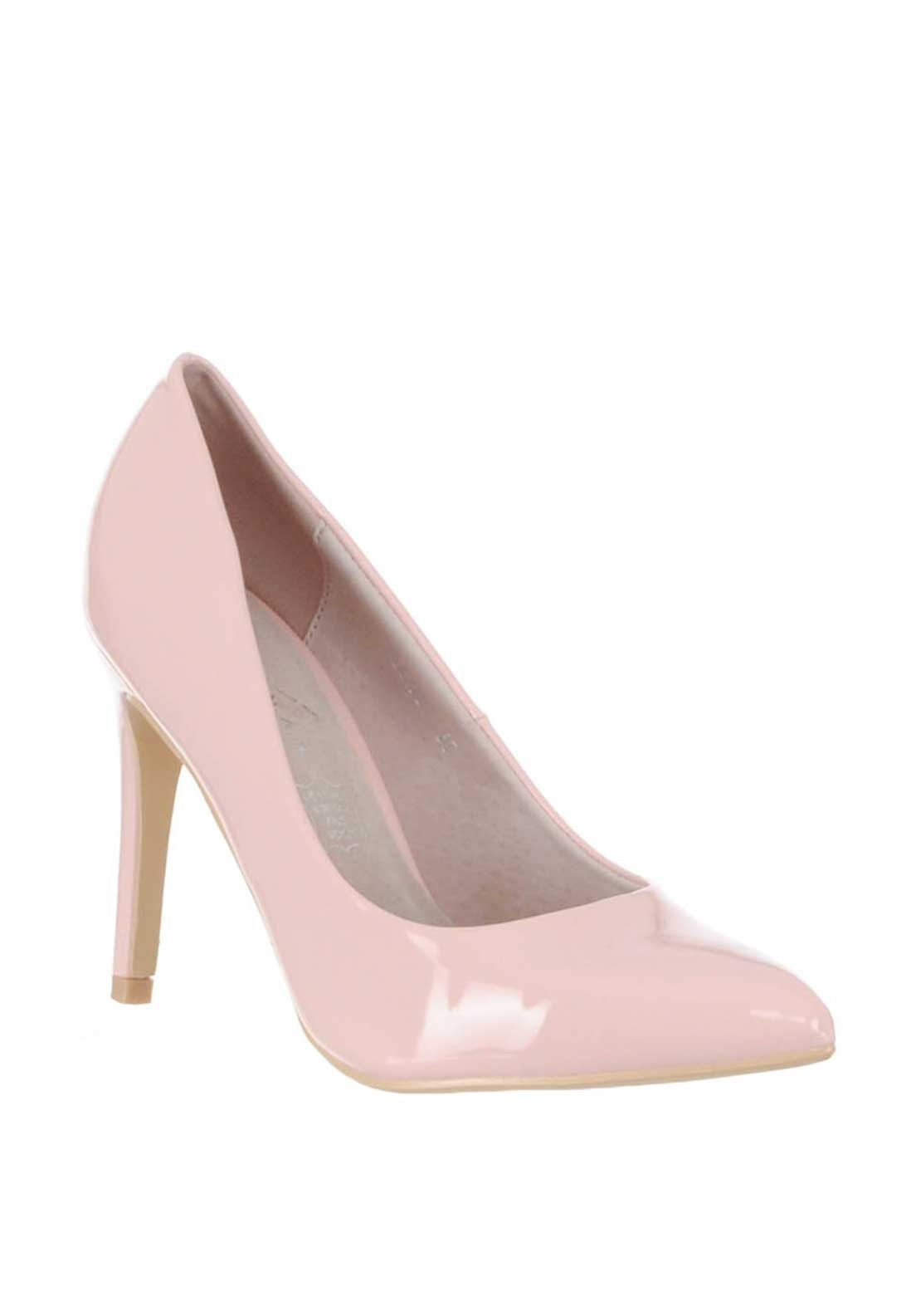 5b485898244 Lunar Patent Pointed Toe Heeled Shoes, Pink