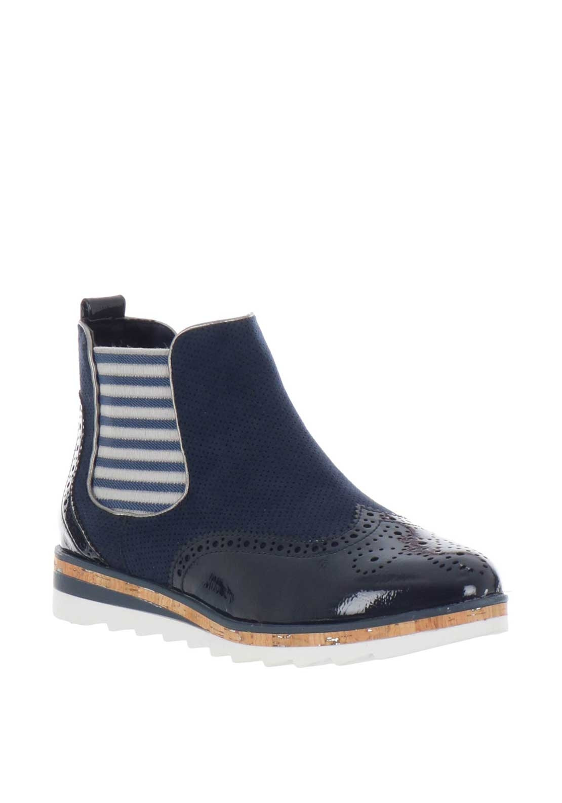 f21afb73c32 Marco tozzi patent chelsea boots navy be the first to review this product  jpg 1110x1585 Marco