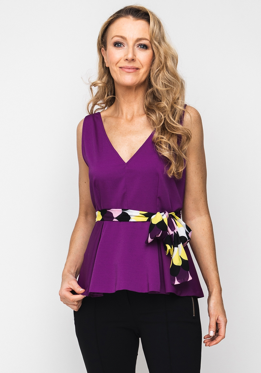 b71c9bfec0be Emme Marella V-Neck Peplum Top, Purple. Be the first to review this product